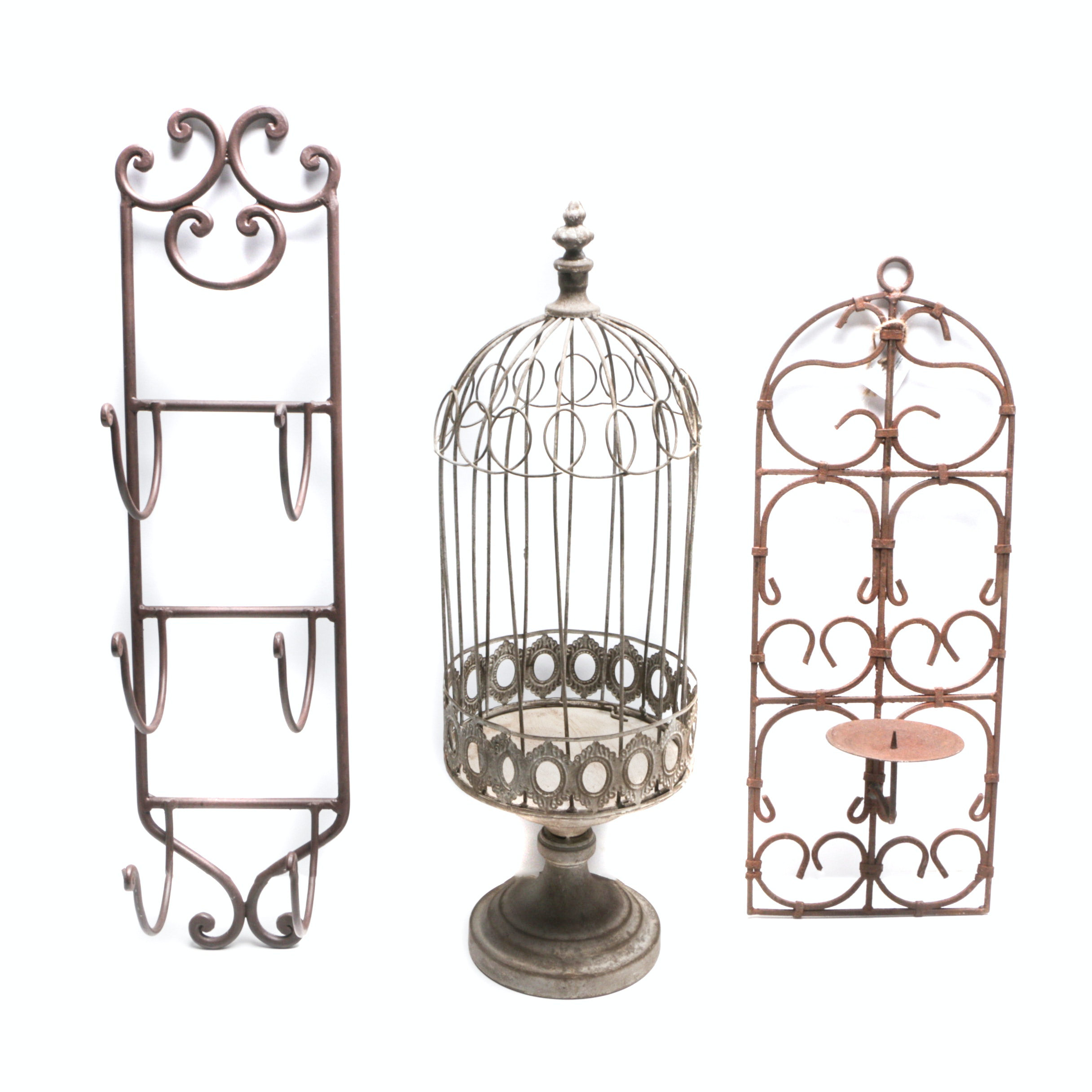 Decorative Metal Rack and  Wall Hangings