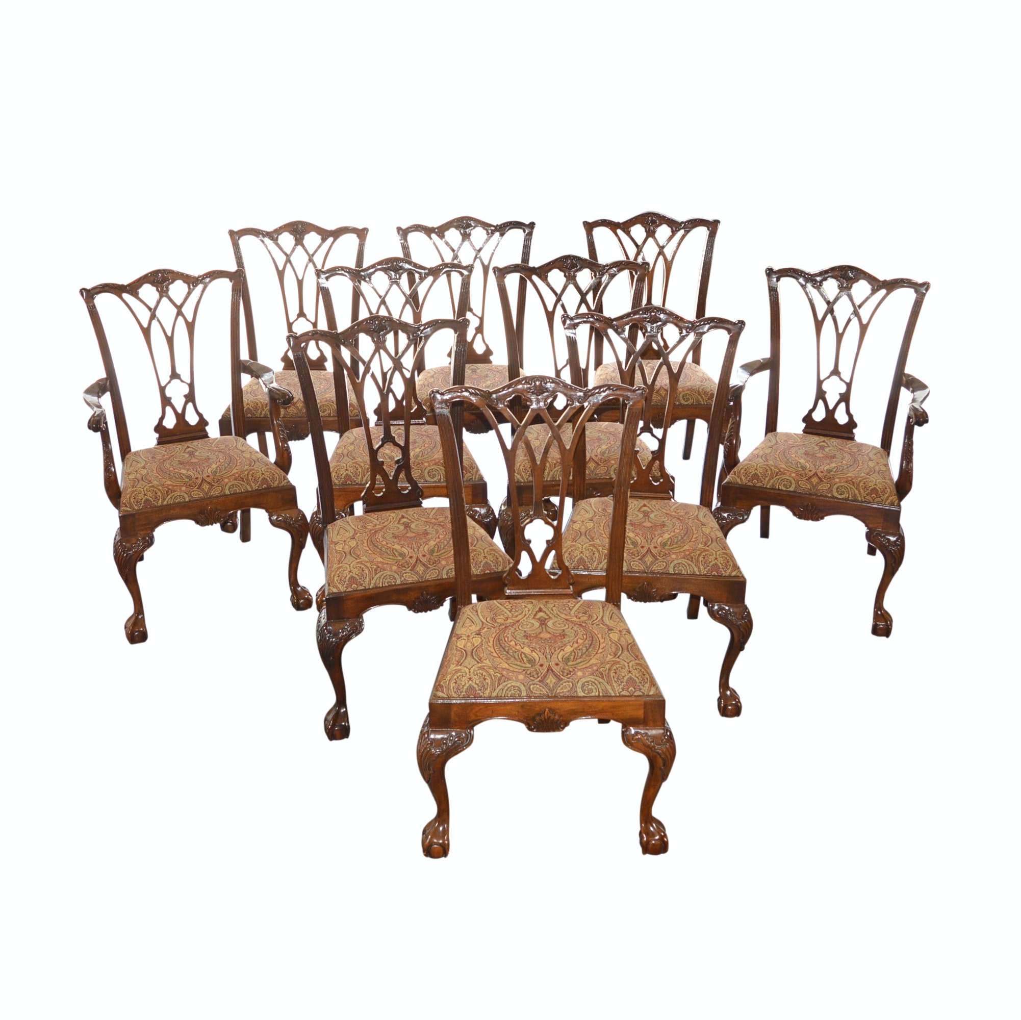 "Drexel ""Heritage"" Dining Chairs (10)"