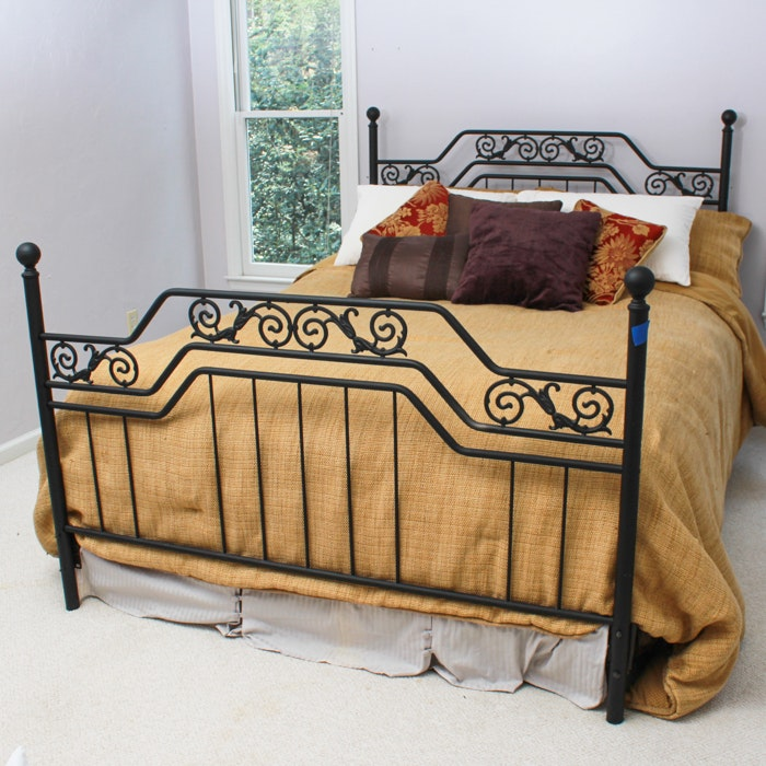 Contemporary Wrought Iron Style Bed Frame