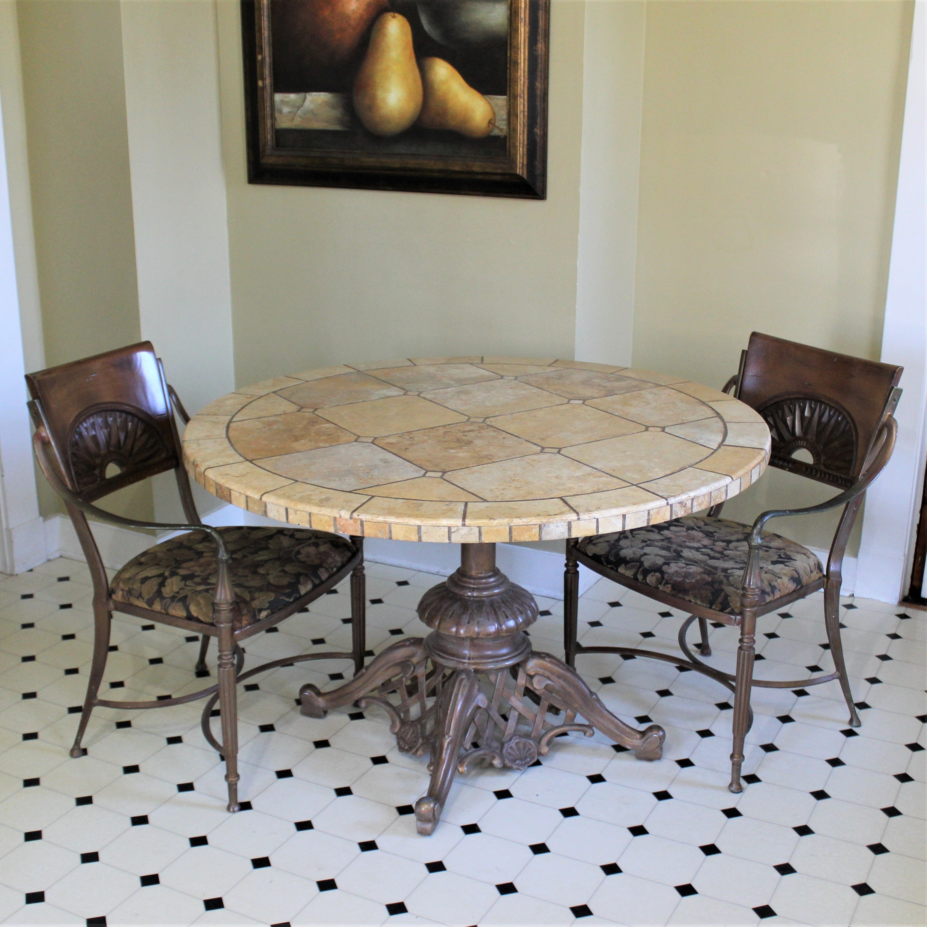 Cermaic Tile Dinnette Table & Chairs