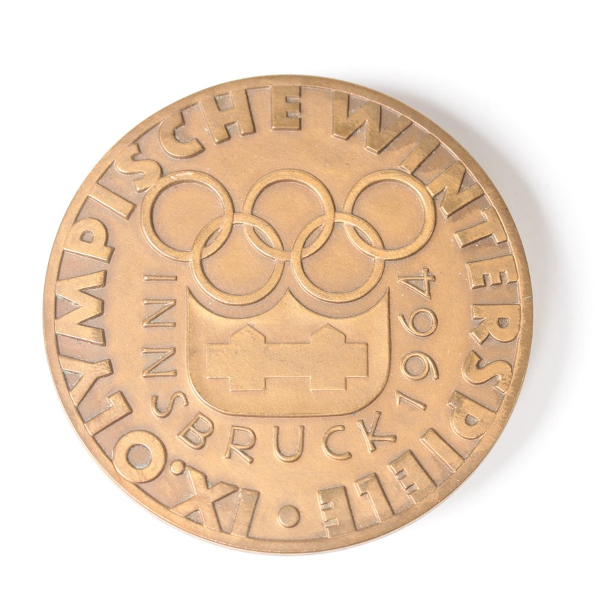 1964 Winter Olympic Commemorative Bronze Medal