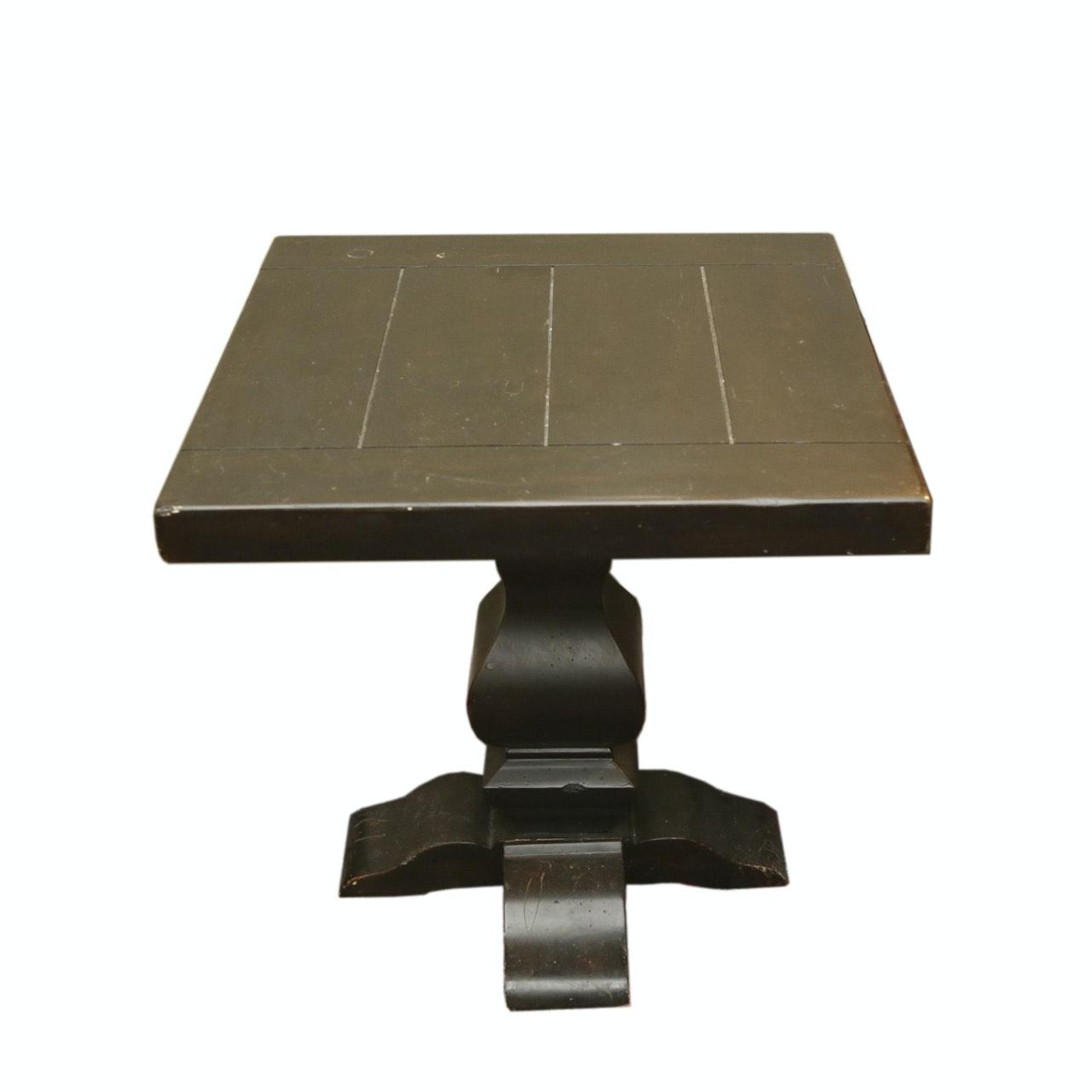 Vintage Pedestal End Table