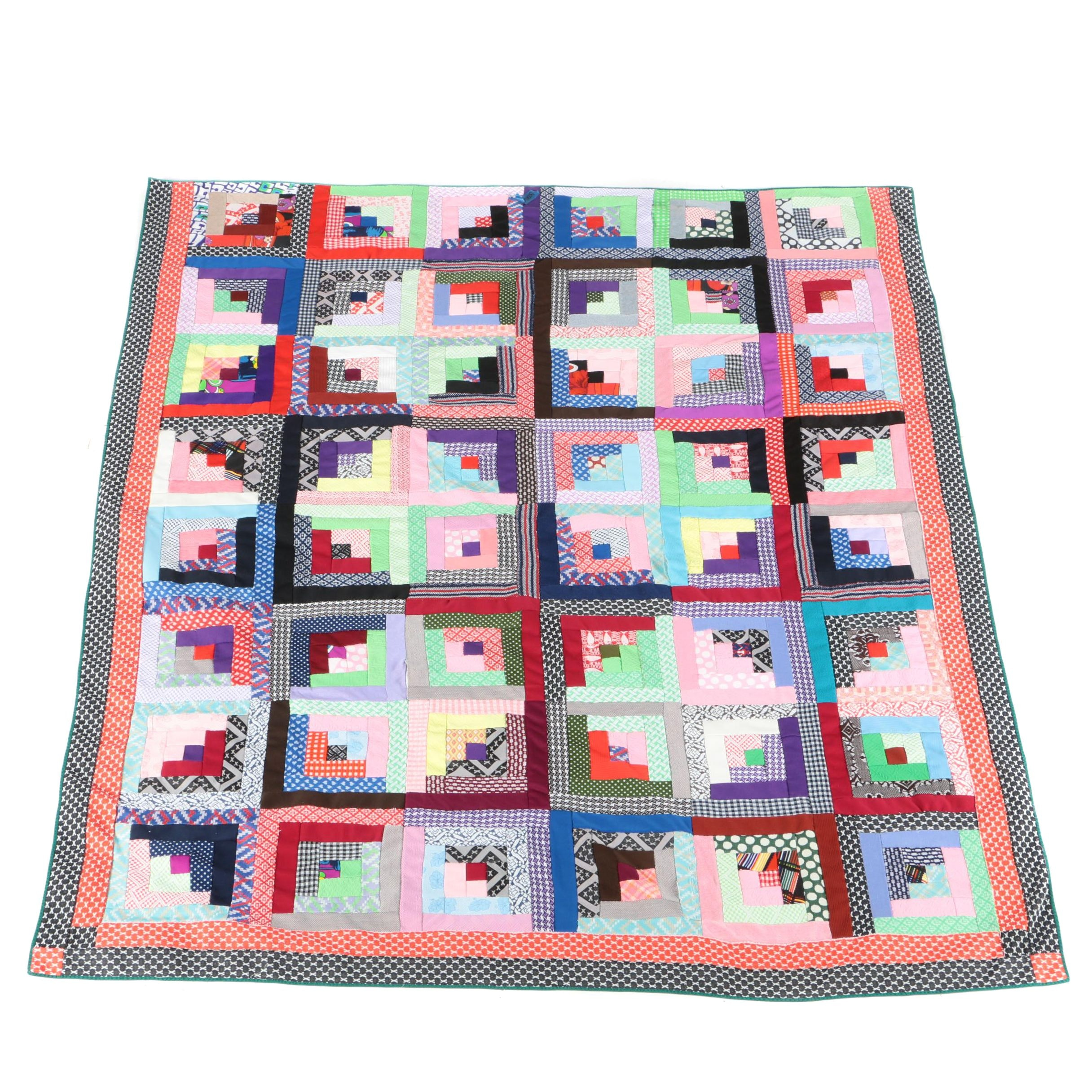 Colorful Handcrafted Quilt