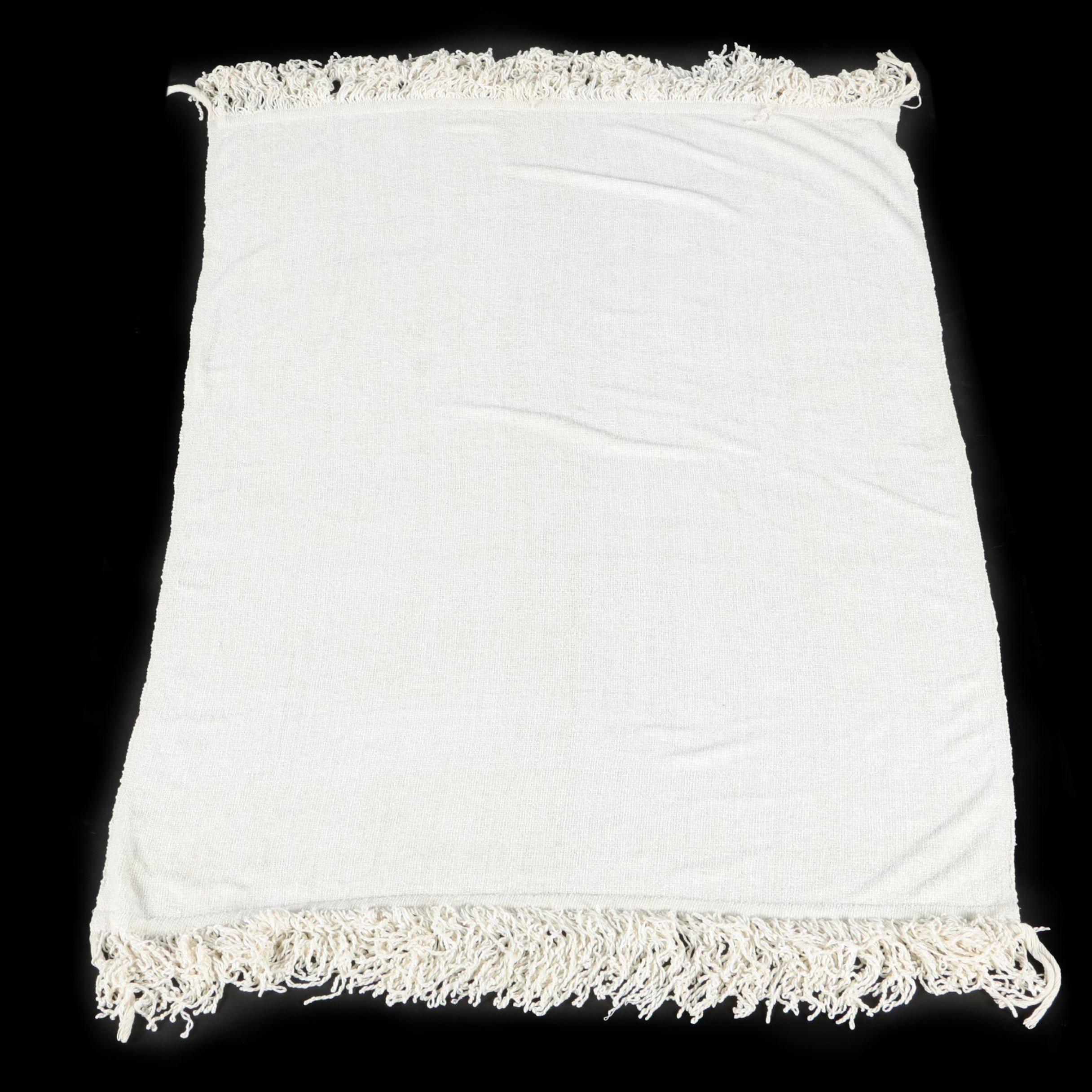 White Chenille Blanket