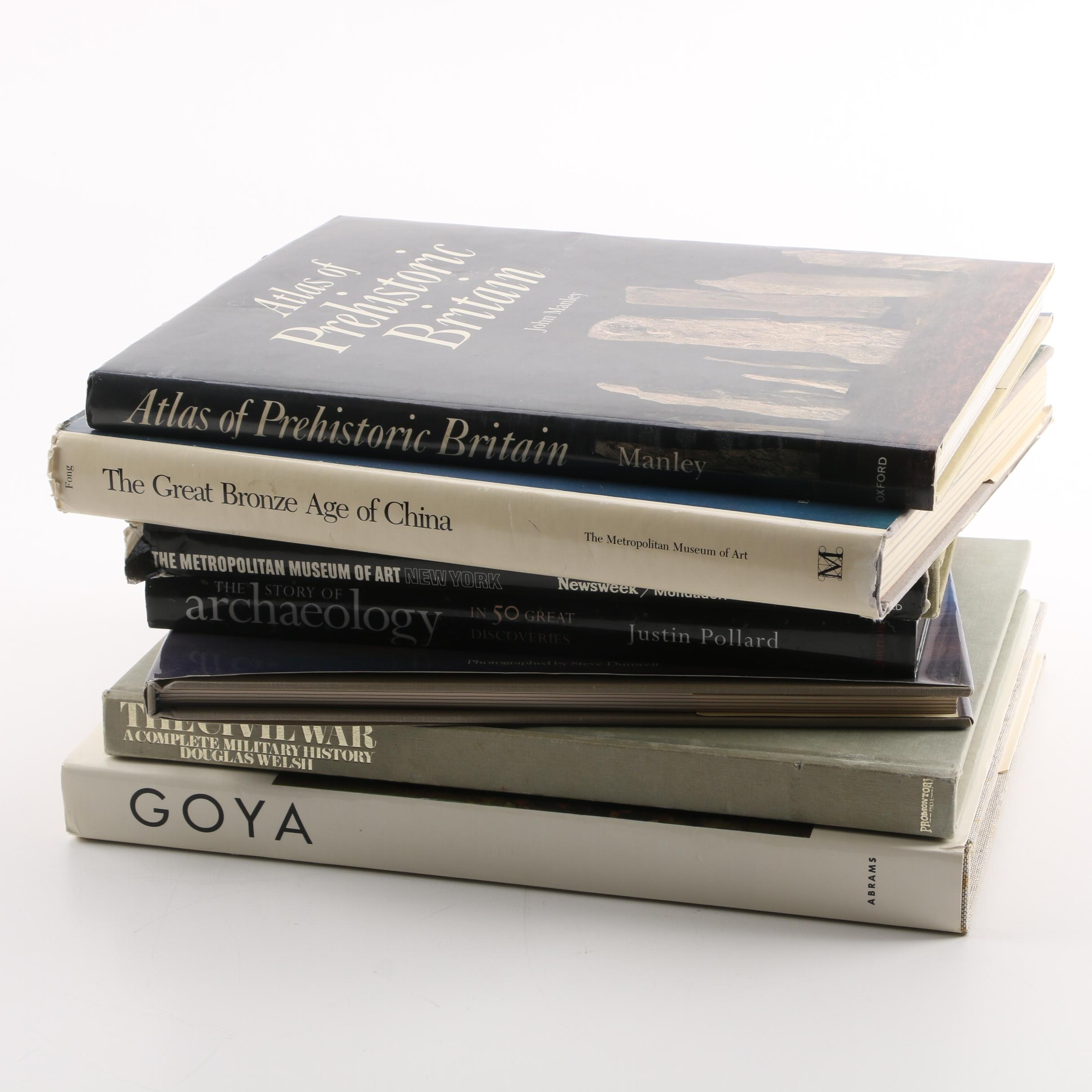 Art, Archaeology, Civil War Hardcover Coffee Table Books