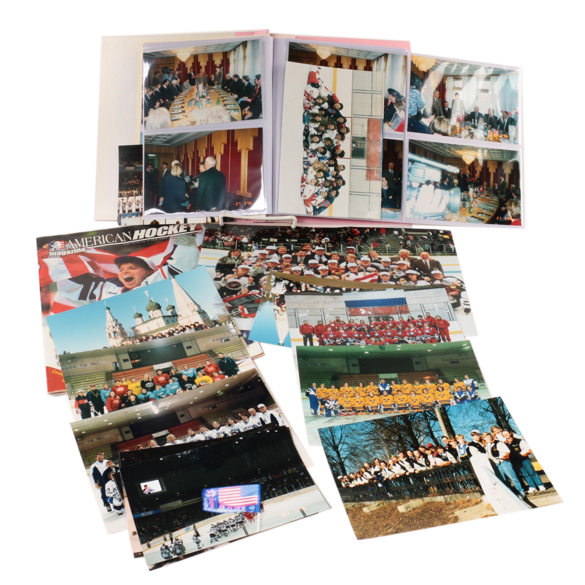 Assortment of Photos Including 1998 Gold Medalist Women's Hockey Team