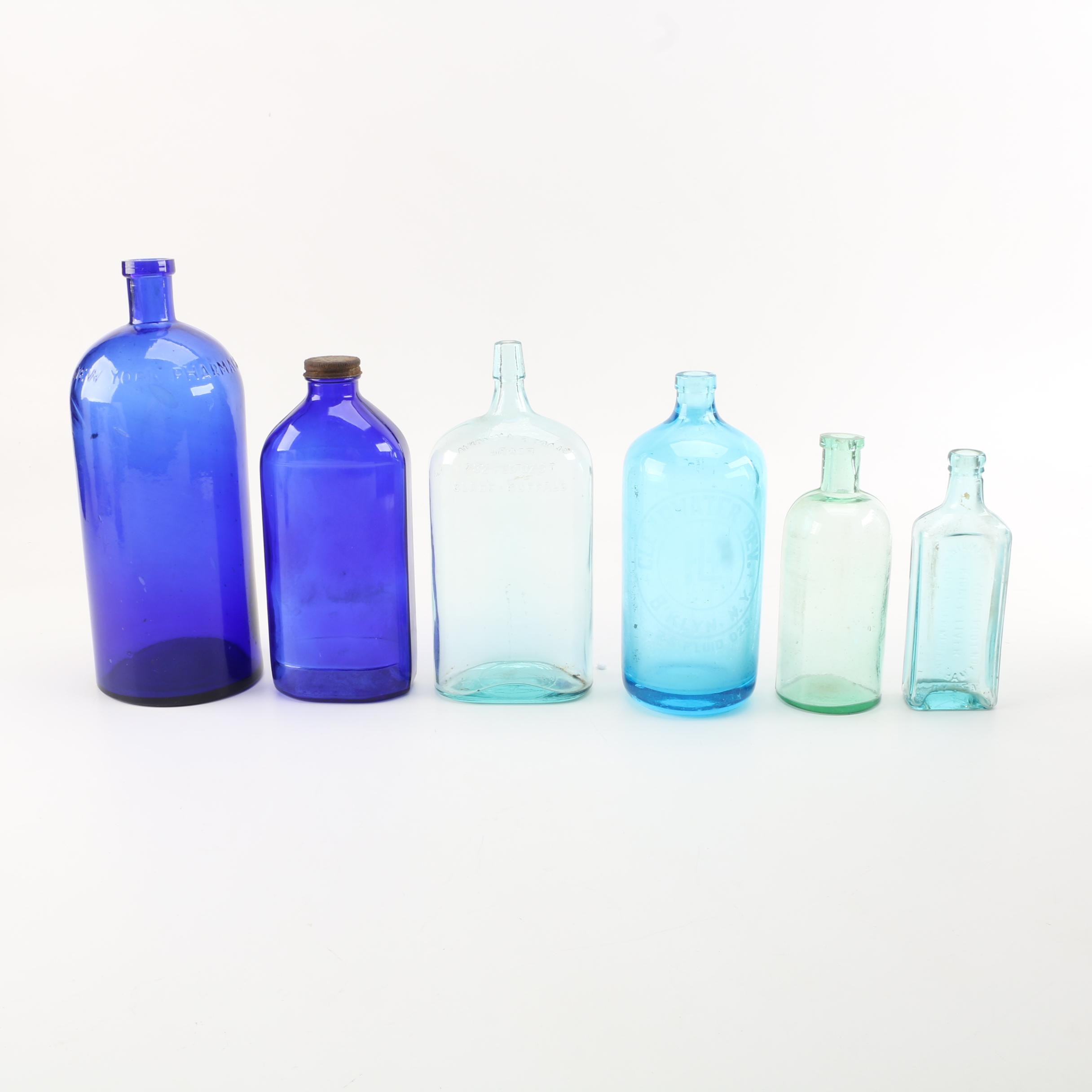 Blue Glass Bottle Collection