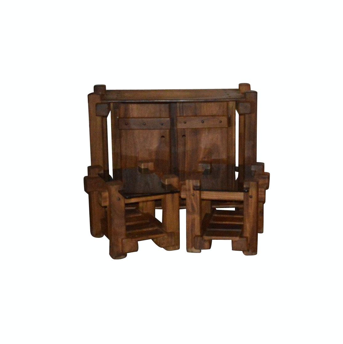 Vintage Pine Side Bar and End Tables