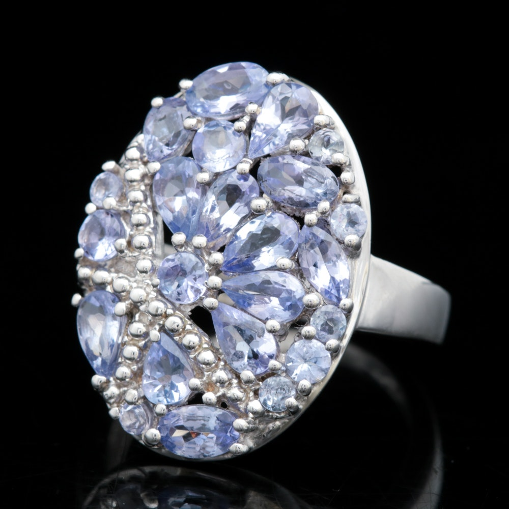 Sterling Silver and Tanzanite Ring