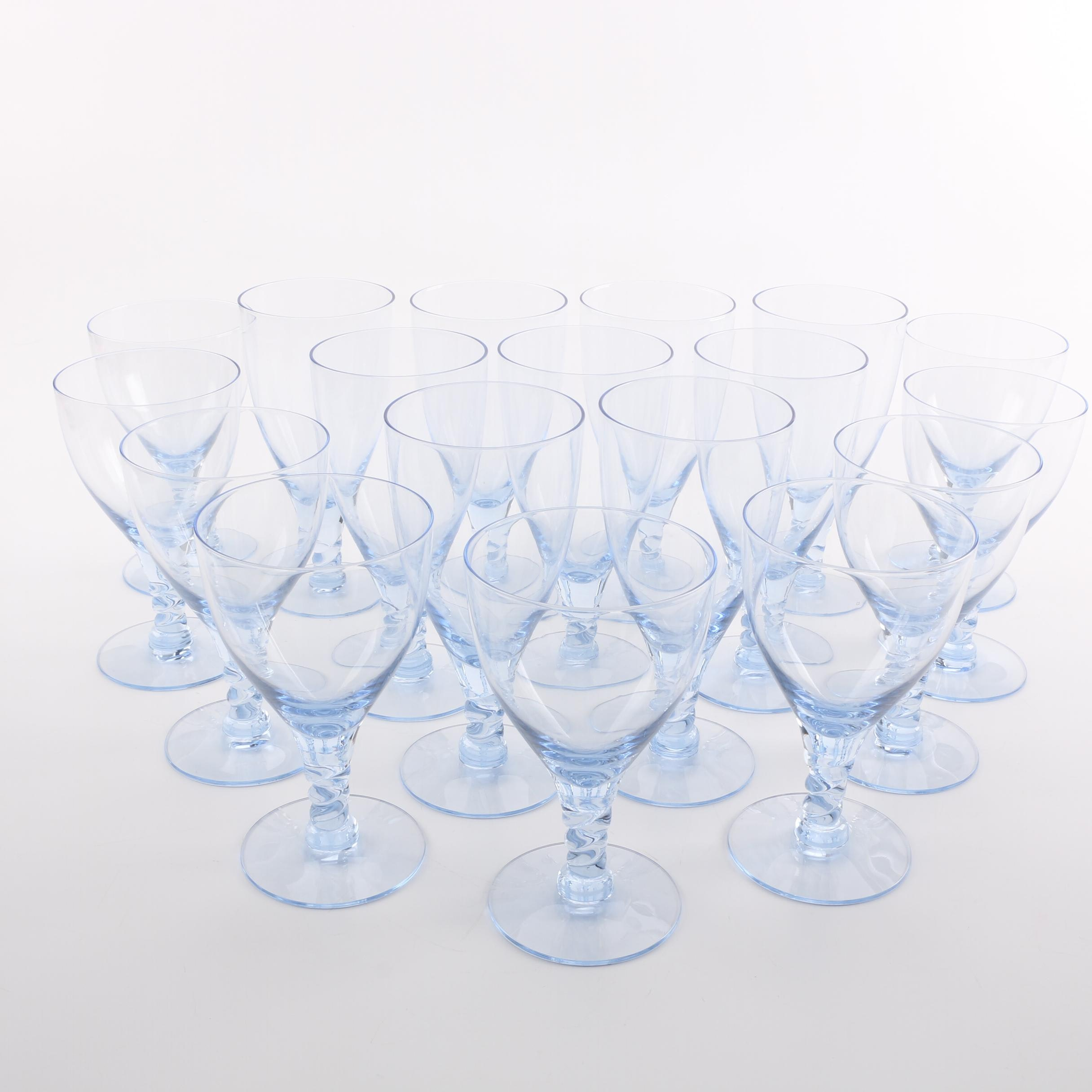 Light Blue Glass Stemware