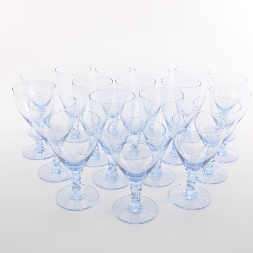 Light Blue Glass Stemware
