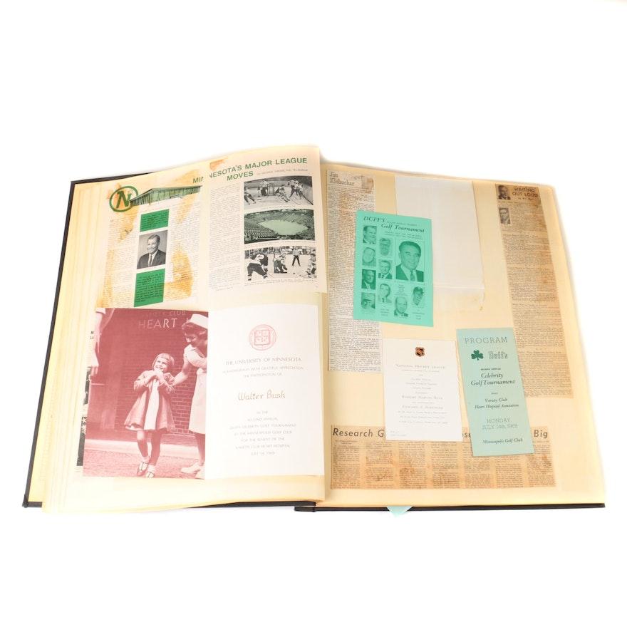 1968 1981 Scrapbook Of Walter Bush Jr Ebth