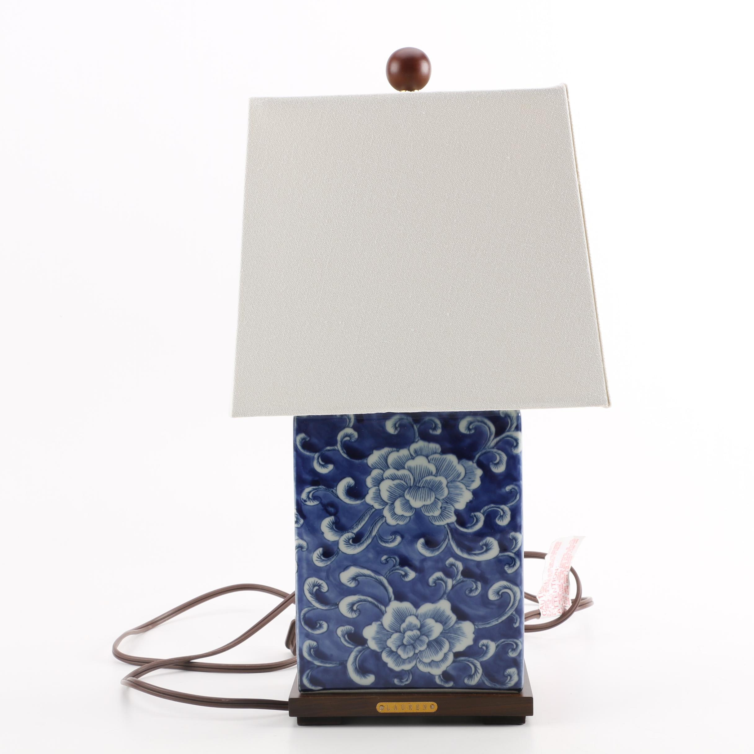 Chinese Blue and White Ceramic Accent Light