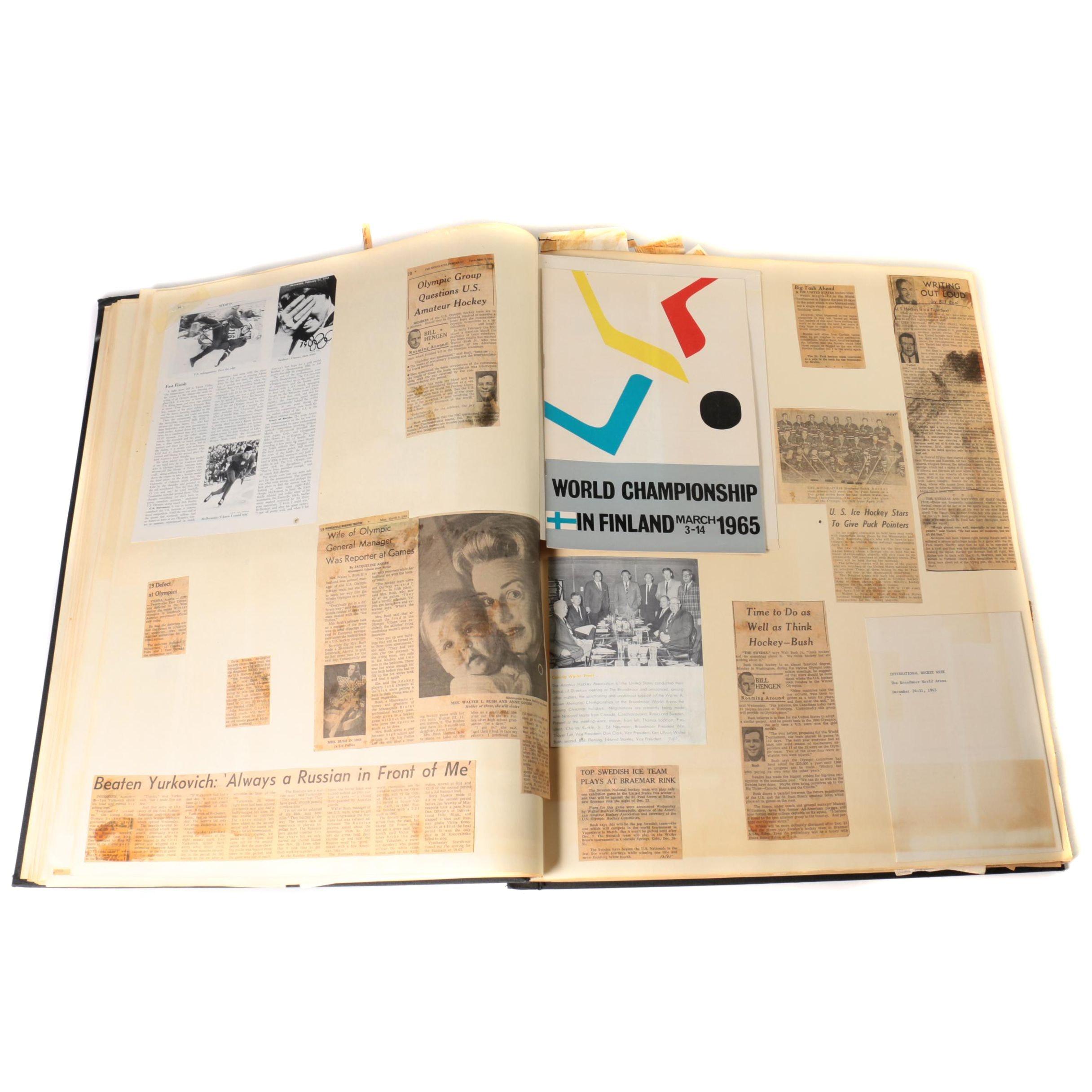 1956-1967 Scrapbook Of Walter Bush, Jr.