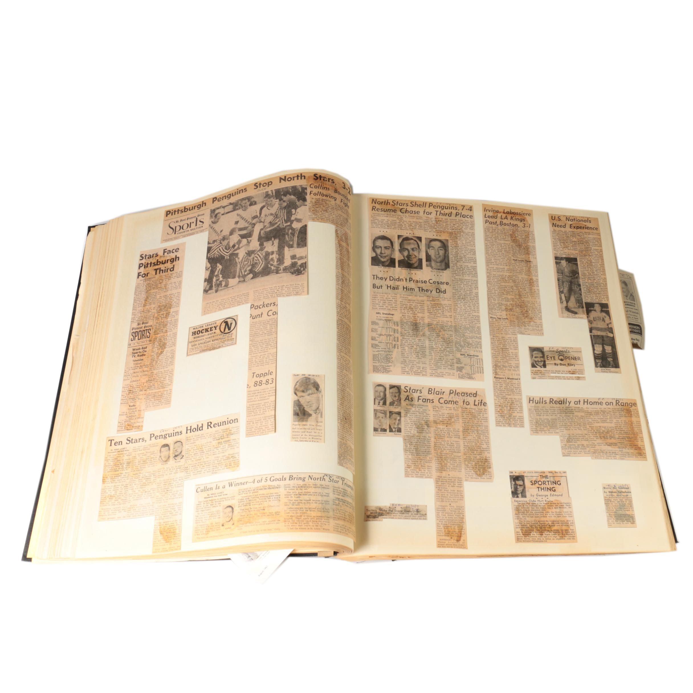 1967- 1968 Scrapbook Of Walter Bush, Jr.