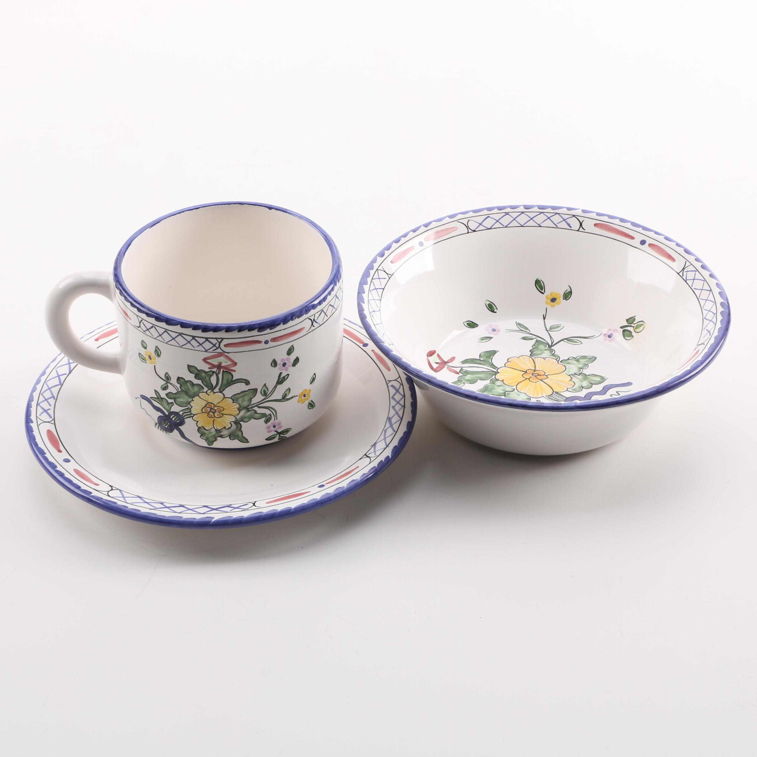 """Portuguese Hand-painted """"Lisbon"""" Tableware for Tiffany & Co."""