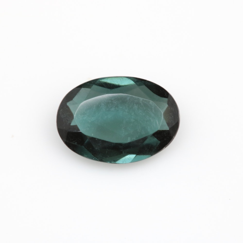 Loose 0.74 CT Green Tourmaline Gemstone
