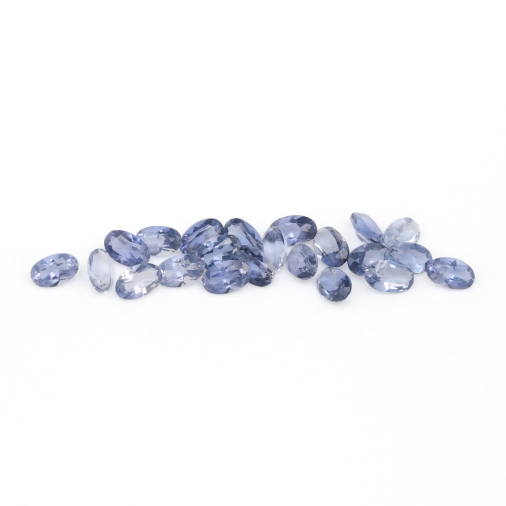 Assortment of Loose 4.48 CTW Iolite Gemstones