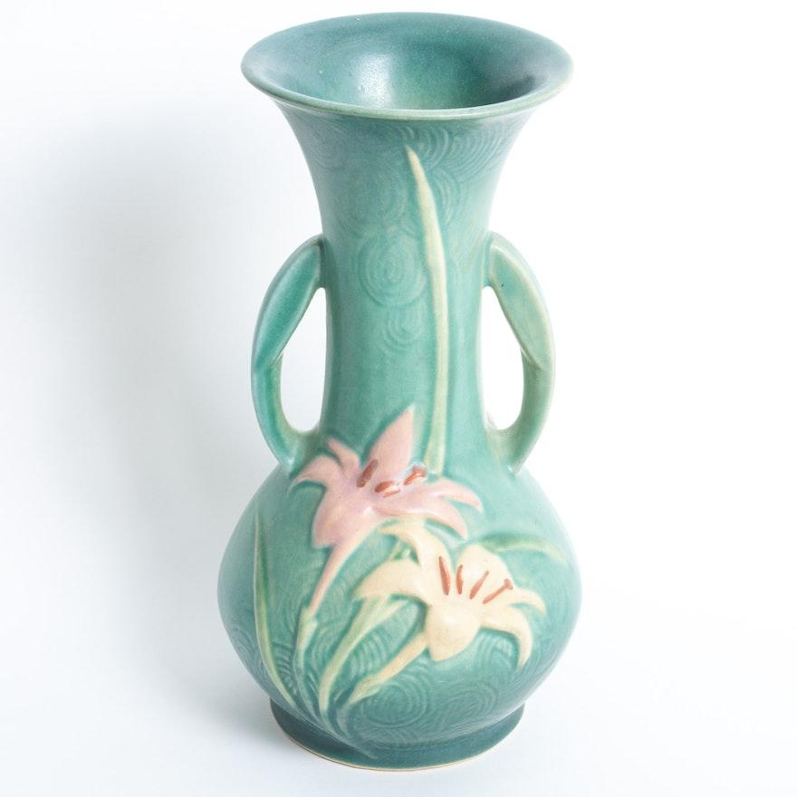 Roseville Zephyr Lily Vase Ebth