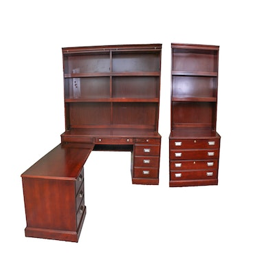 Corner Desk, Hutch and Bookcase Chest - Vintage Desks, Antique Desks And Used Desks Auction : EBTH