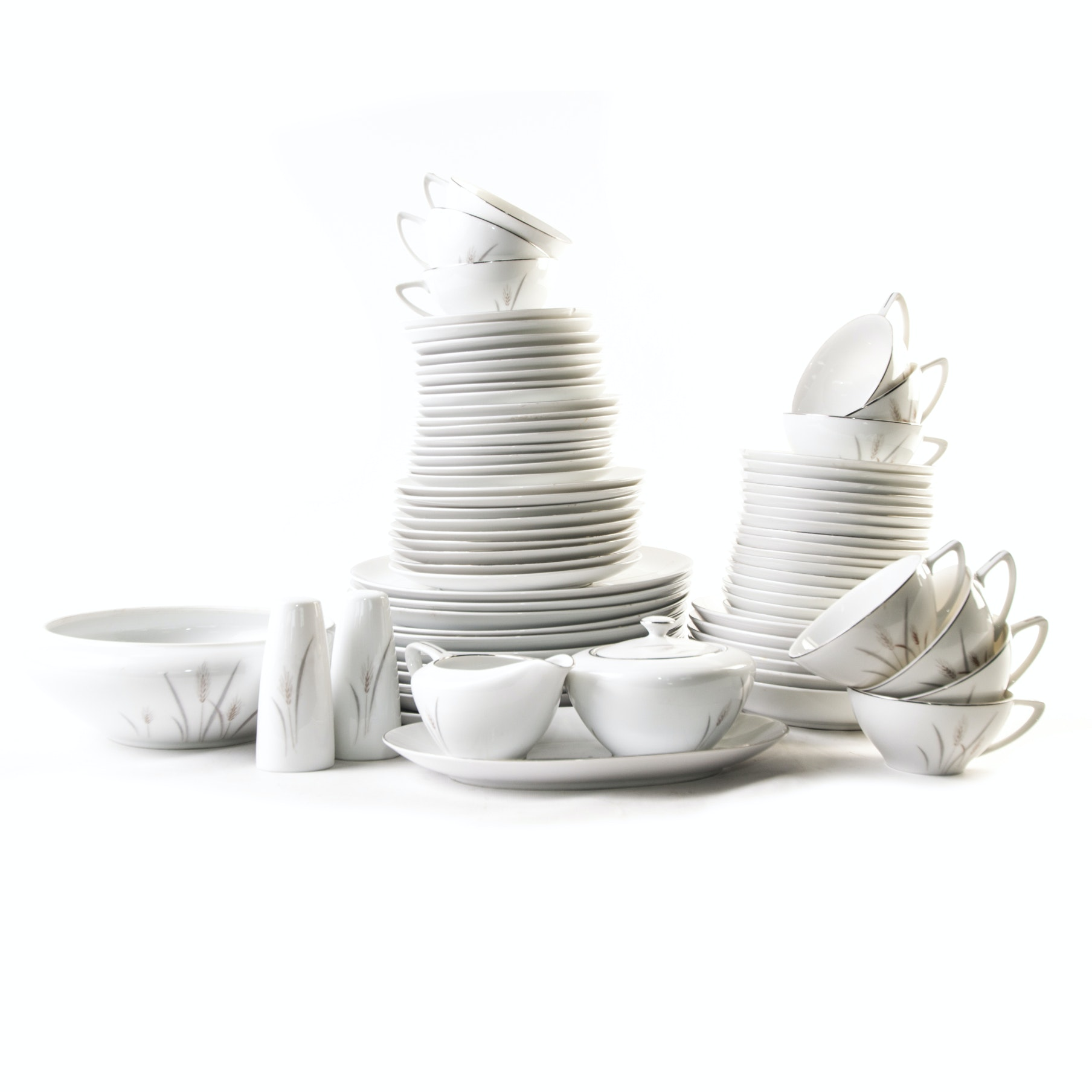 Fine China Of Japan  Platinum Wheat  Dinnerware ...  sc 1 st  EBTH.com & Fine China Of Japan