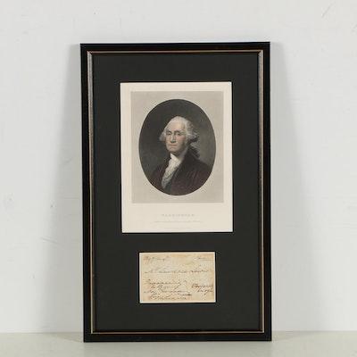 George Washington Signed Free Frank Address Panel to Nephew Lawrence Lewis