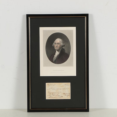 George Washington Signed Free Frank Address Panel to Nephew Lawrence Lewis