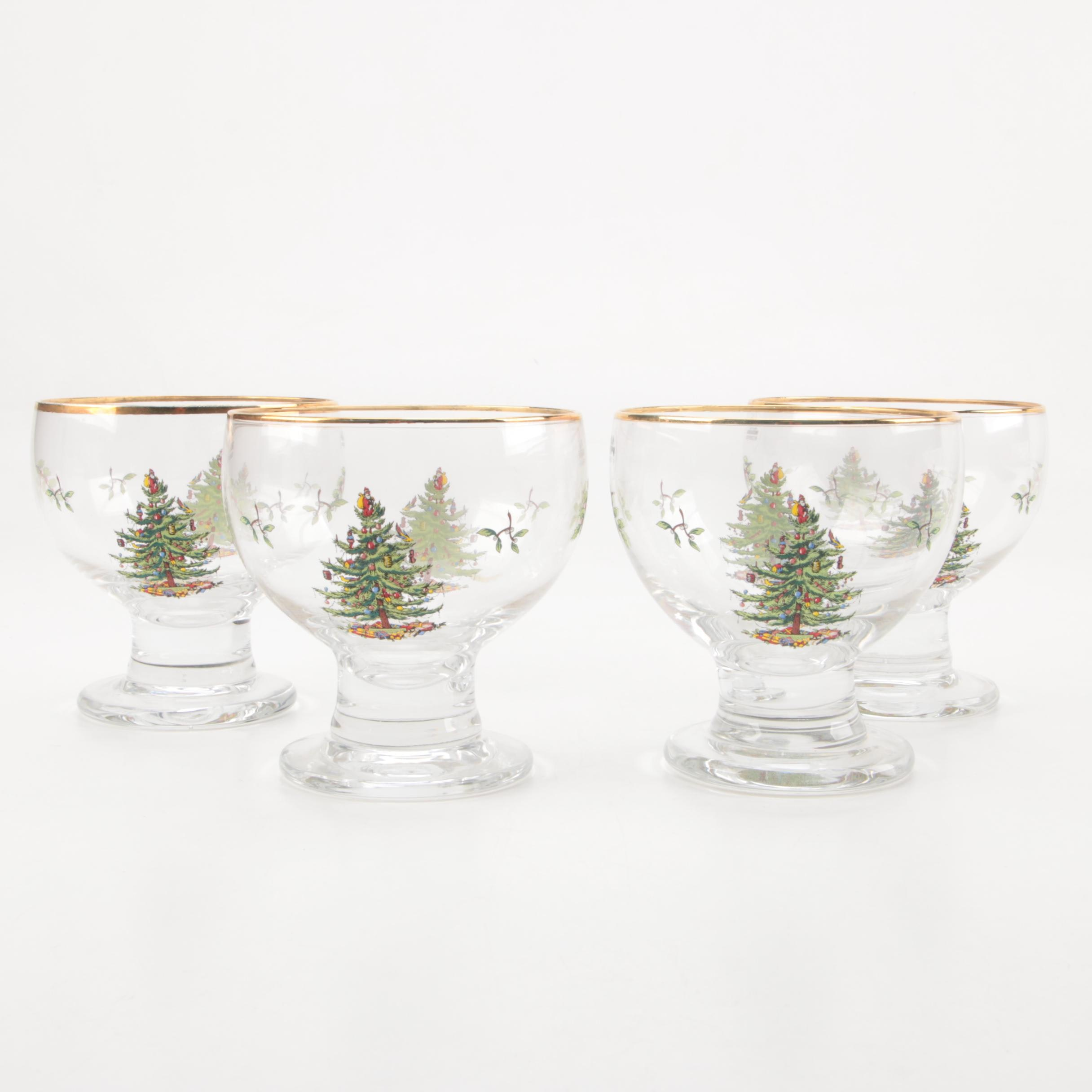 "Spode ""Christmas Tree"" Stemware"