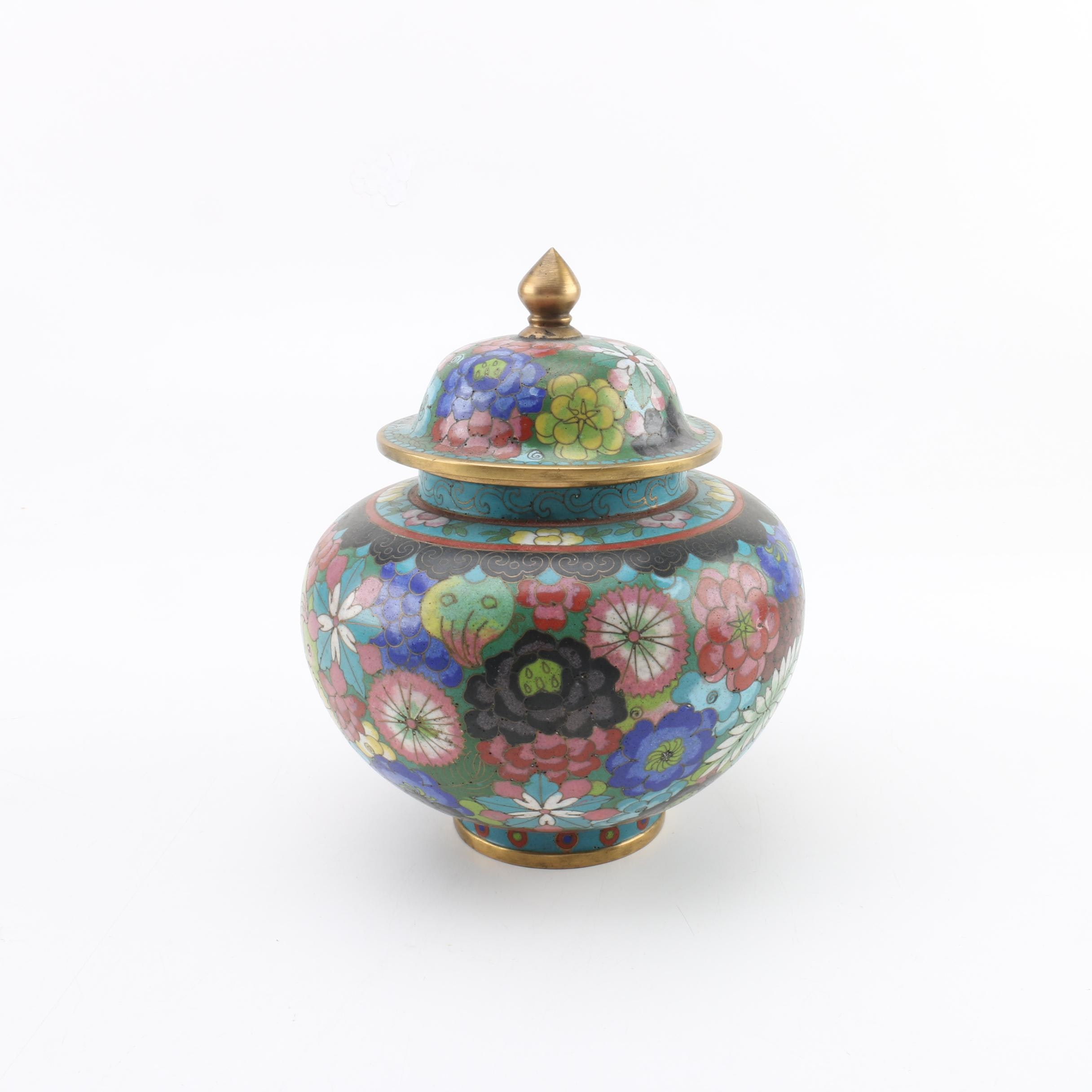 Chinese Cloisonné Urn