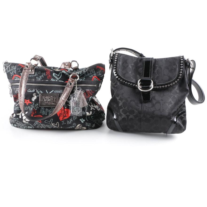 15b336464e2f Coach Poppy Graffiti Glam Tote and Signature Front Flap Shoulder Bag : EBTH