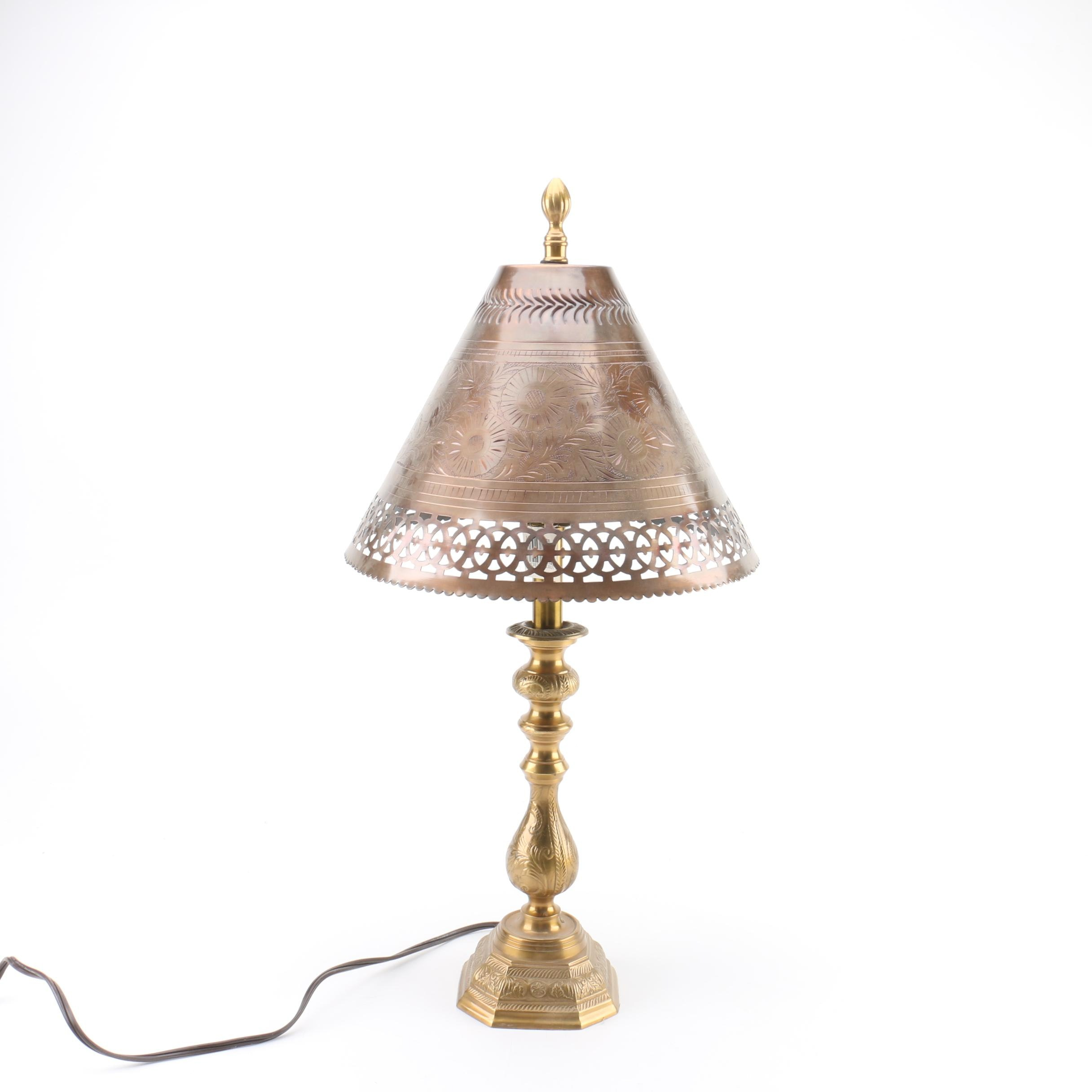 Mixed Metal Table Lamp