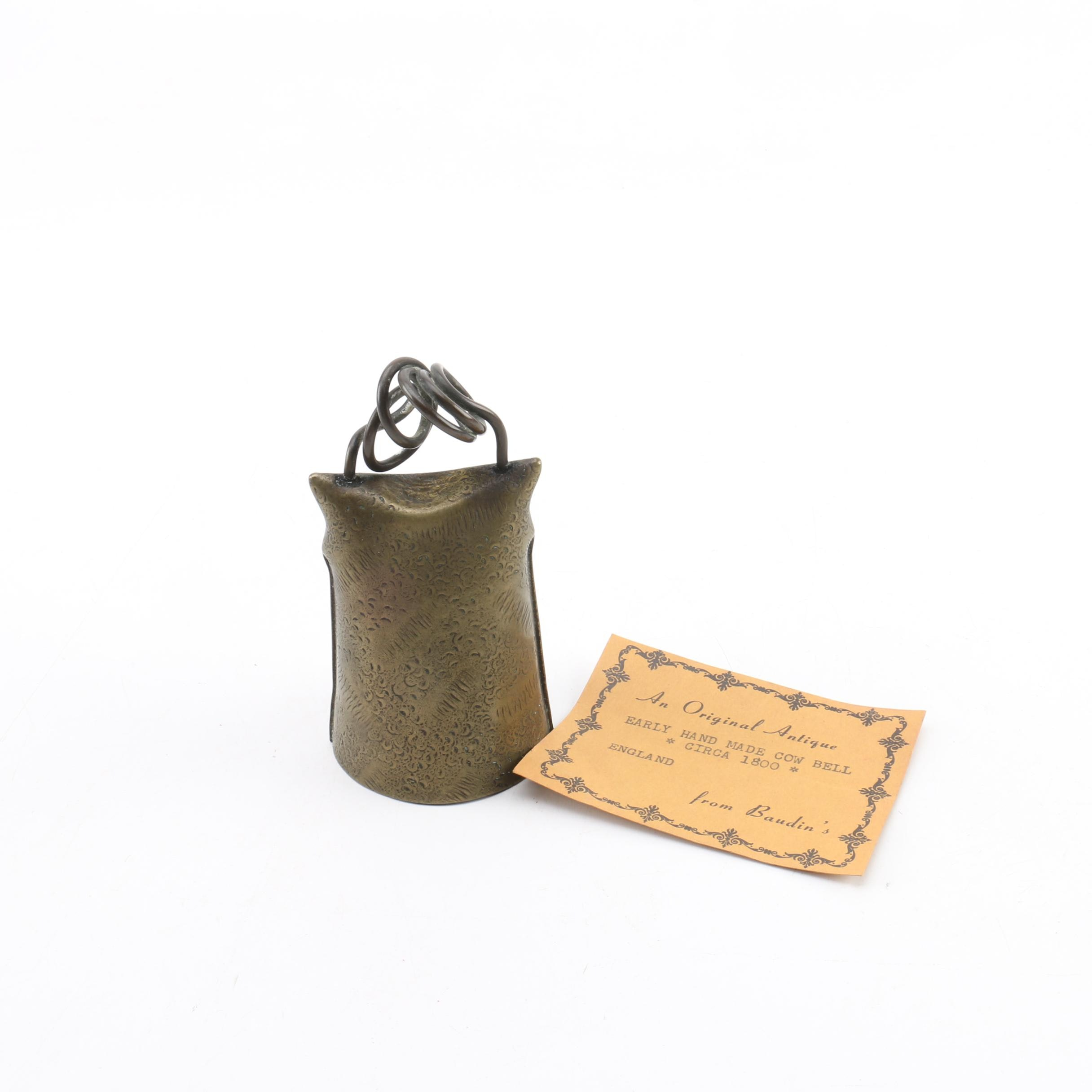 Antique Townsend & Co. Handmade Metal Cowbell