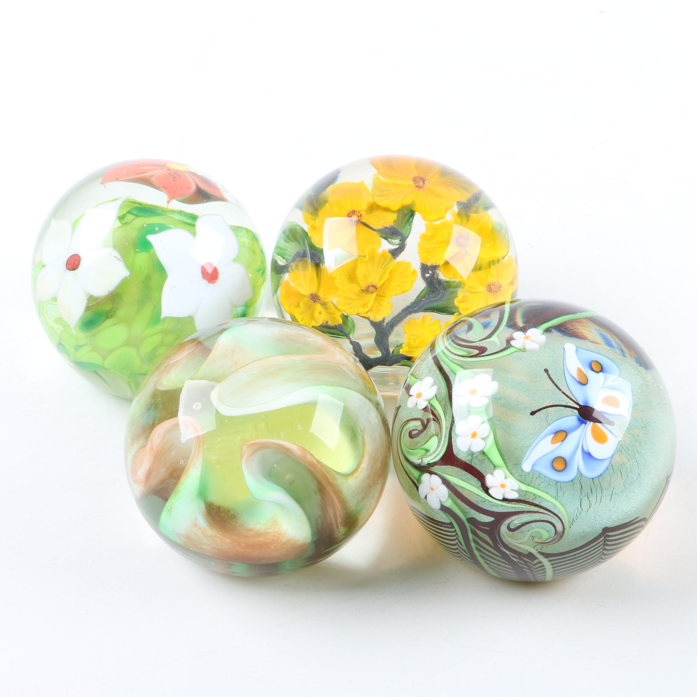 Art Glass Paperweights Including Vintage Daniel Salazar