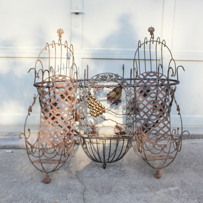 Wrought Metal Wall Planter Baskets