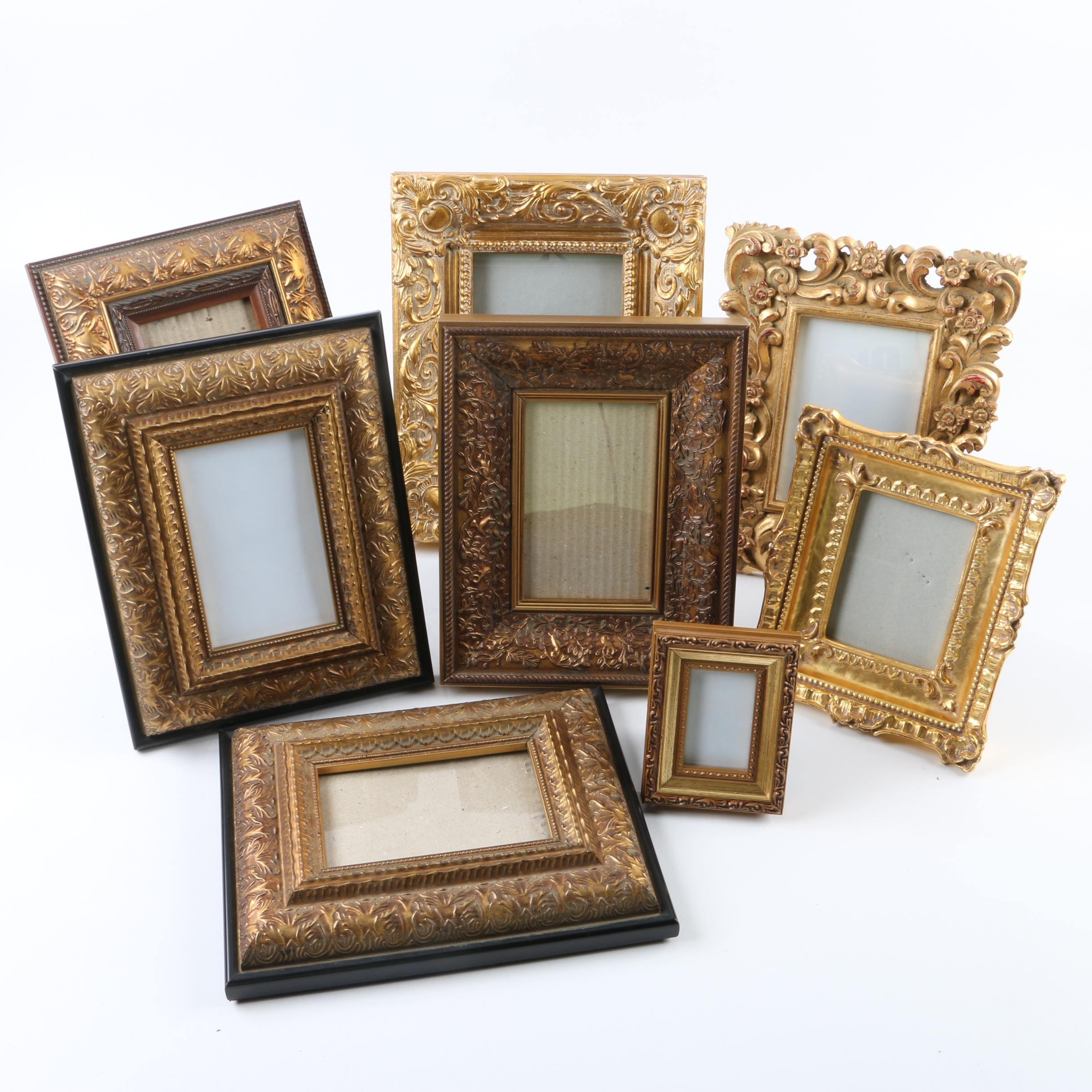 Decorative Wood, Resin, and Metal Frame Assortment