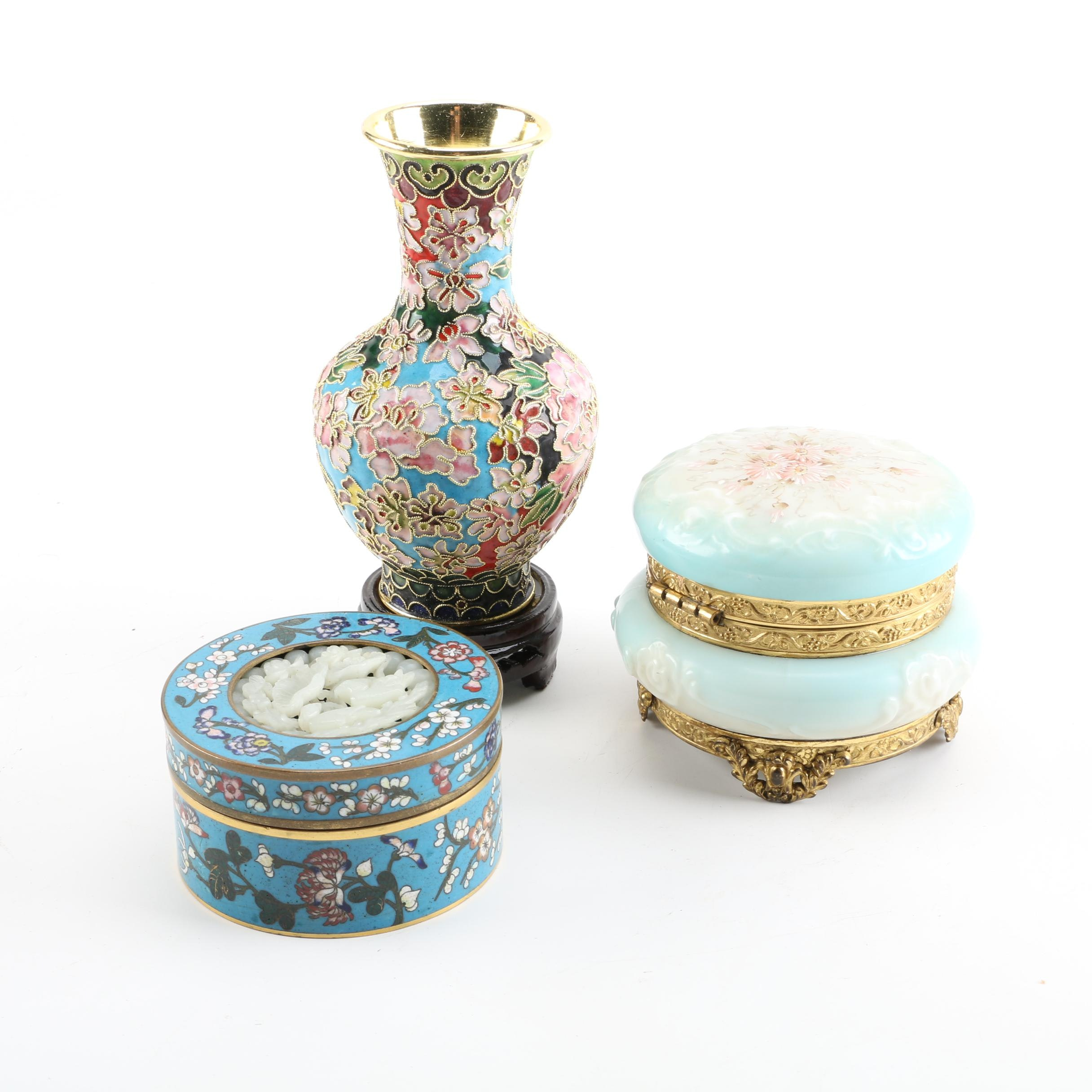 Chinese Cloisonné Decor and Trinket Box