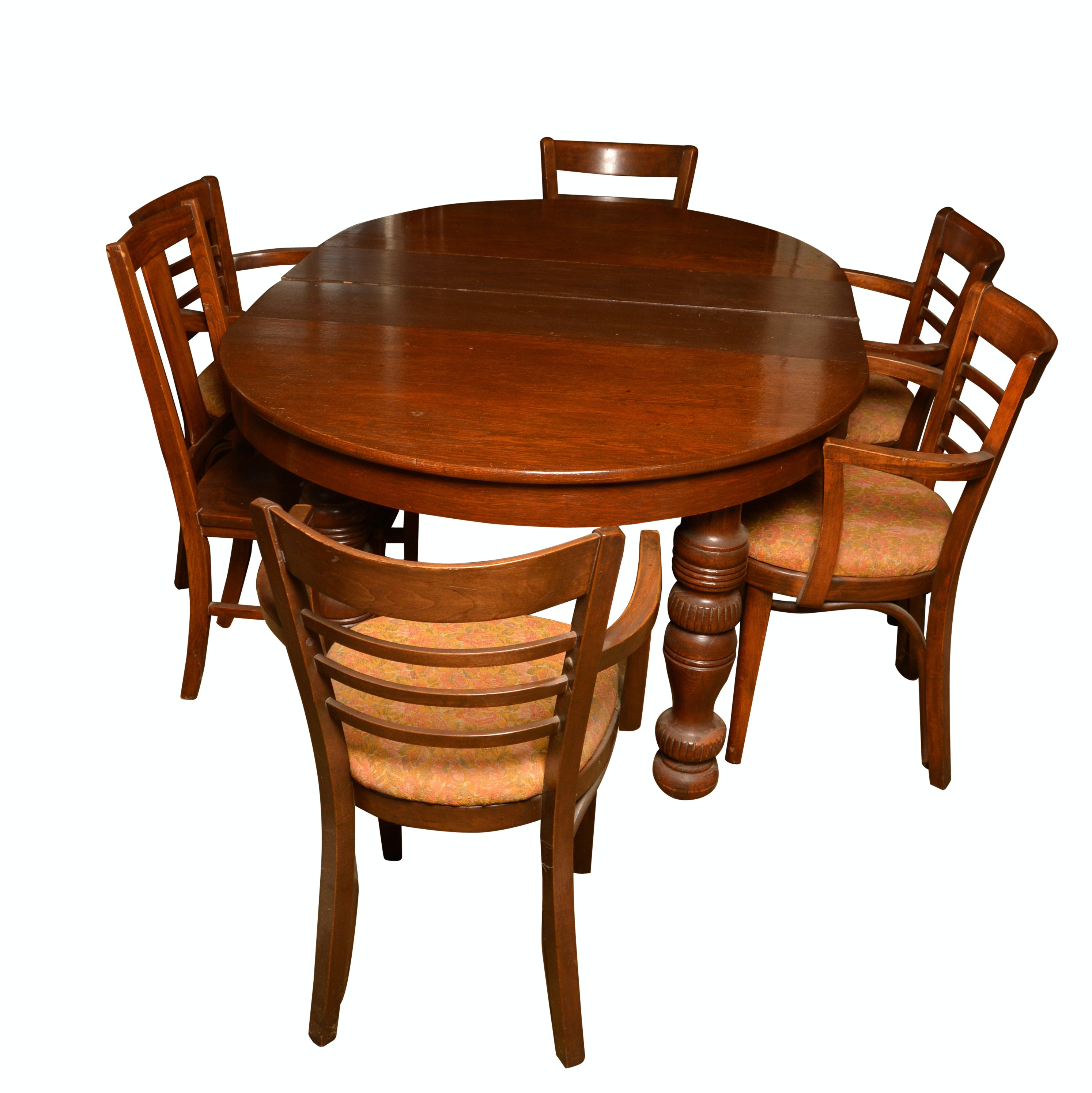 Vintage Dining Table with Dining Chairs