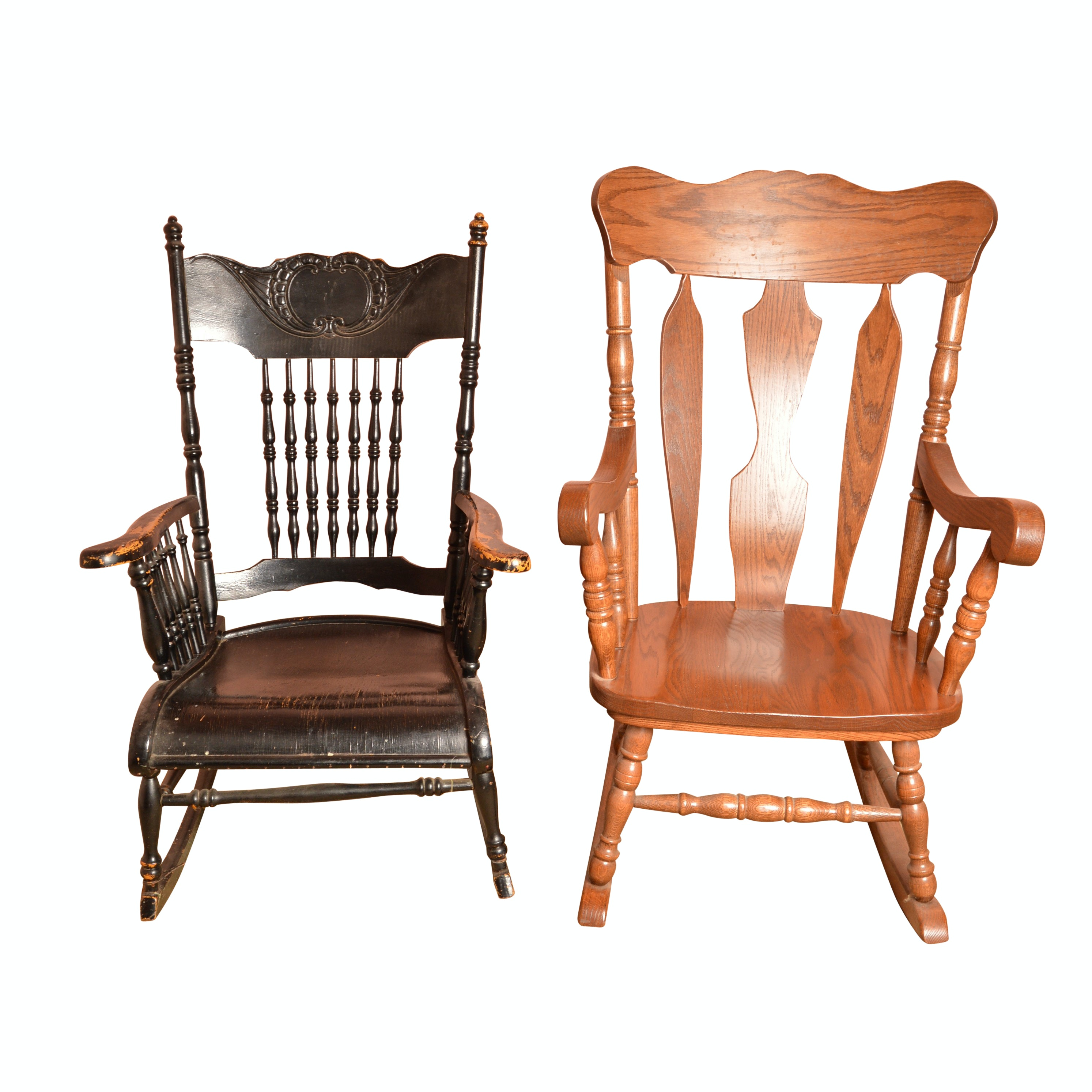 Pair of Vintage Rocking Chairs