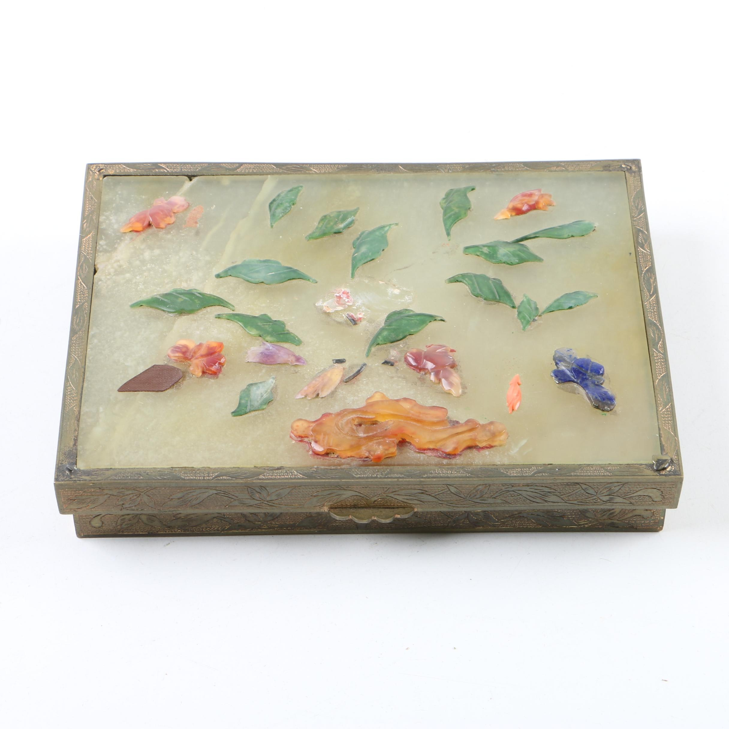 Trinket Box with Stone Accents