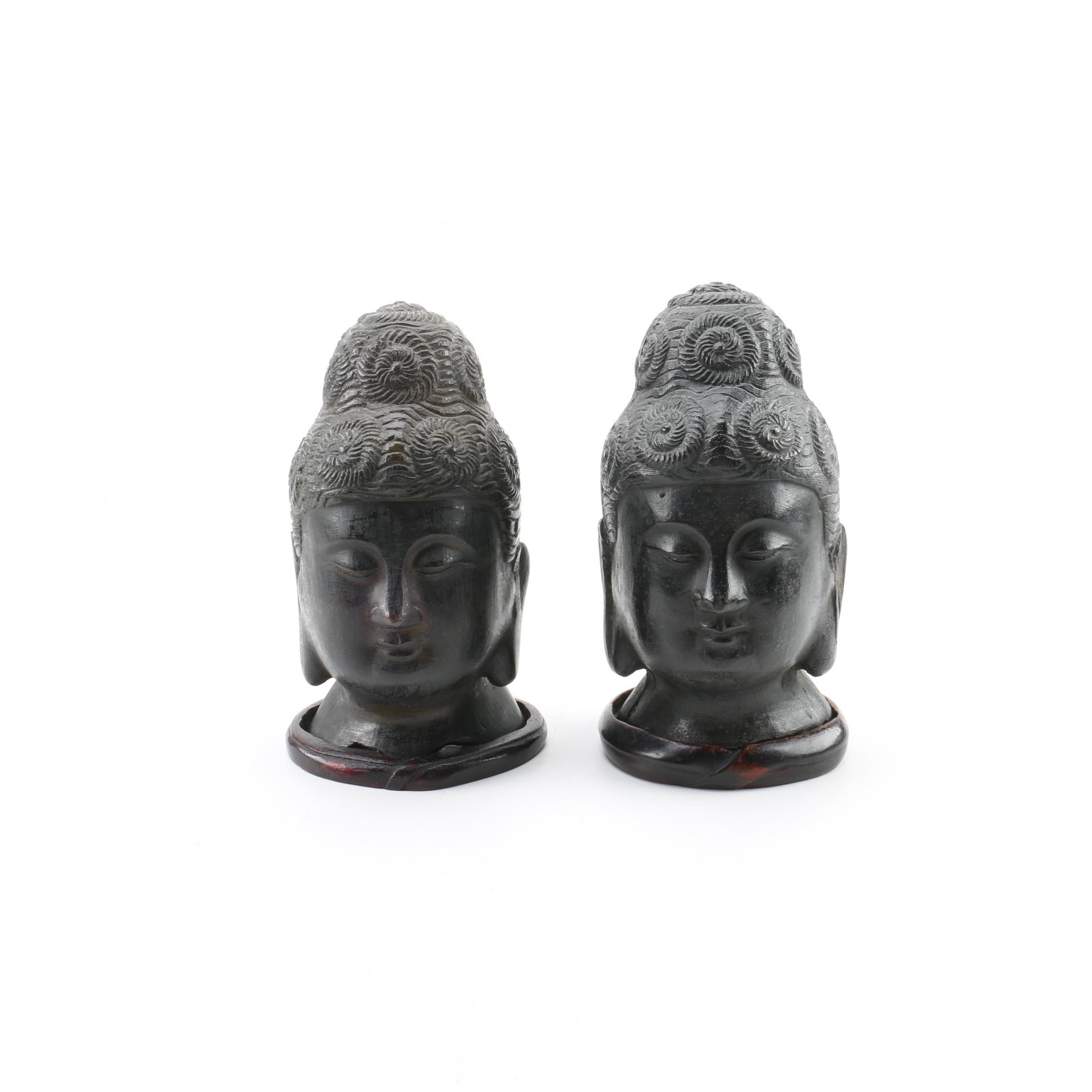 Chinese Buddhist Bust Figurines