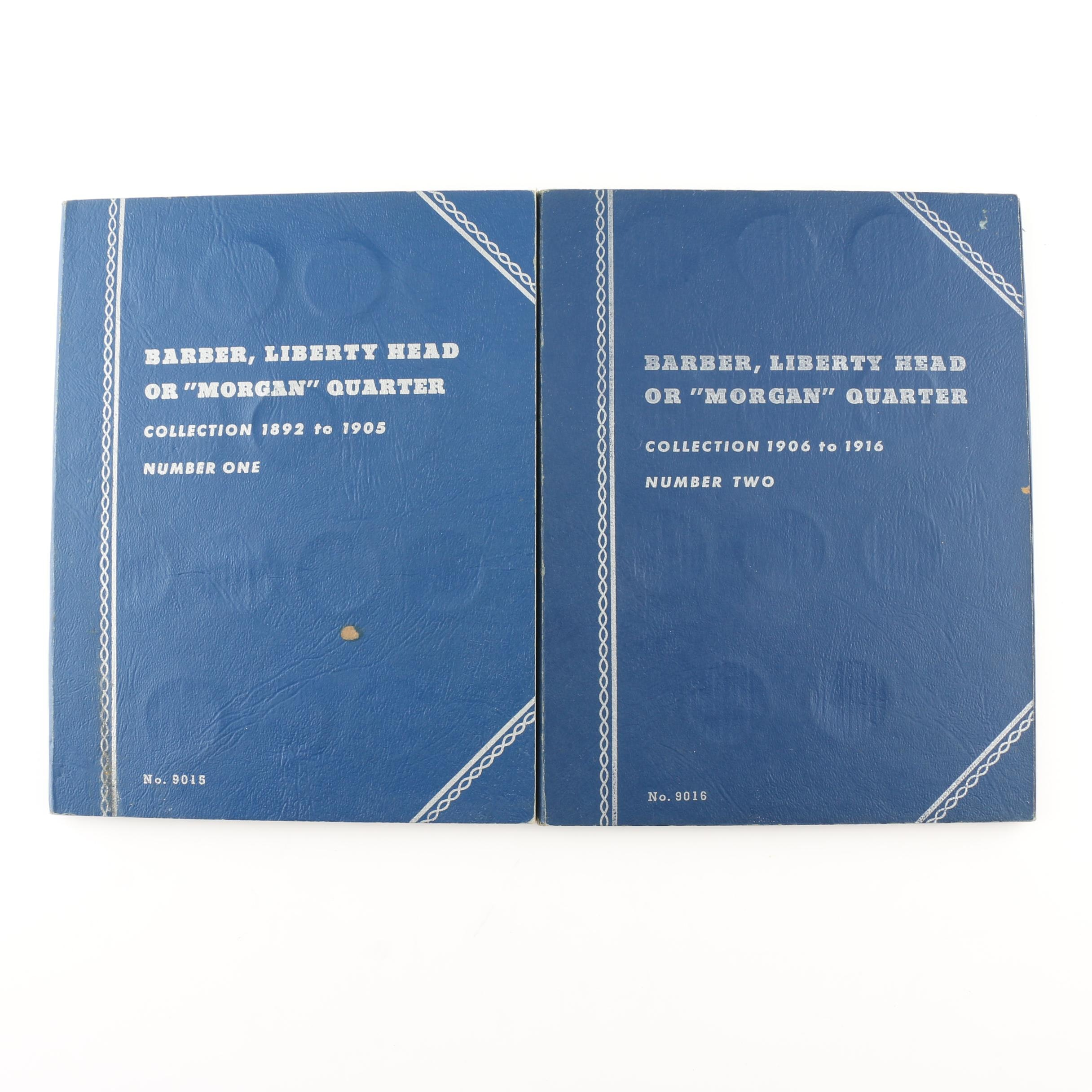 Two Whitman Binders of Barber Silver Quarters