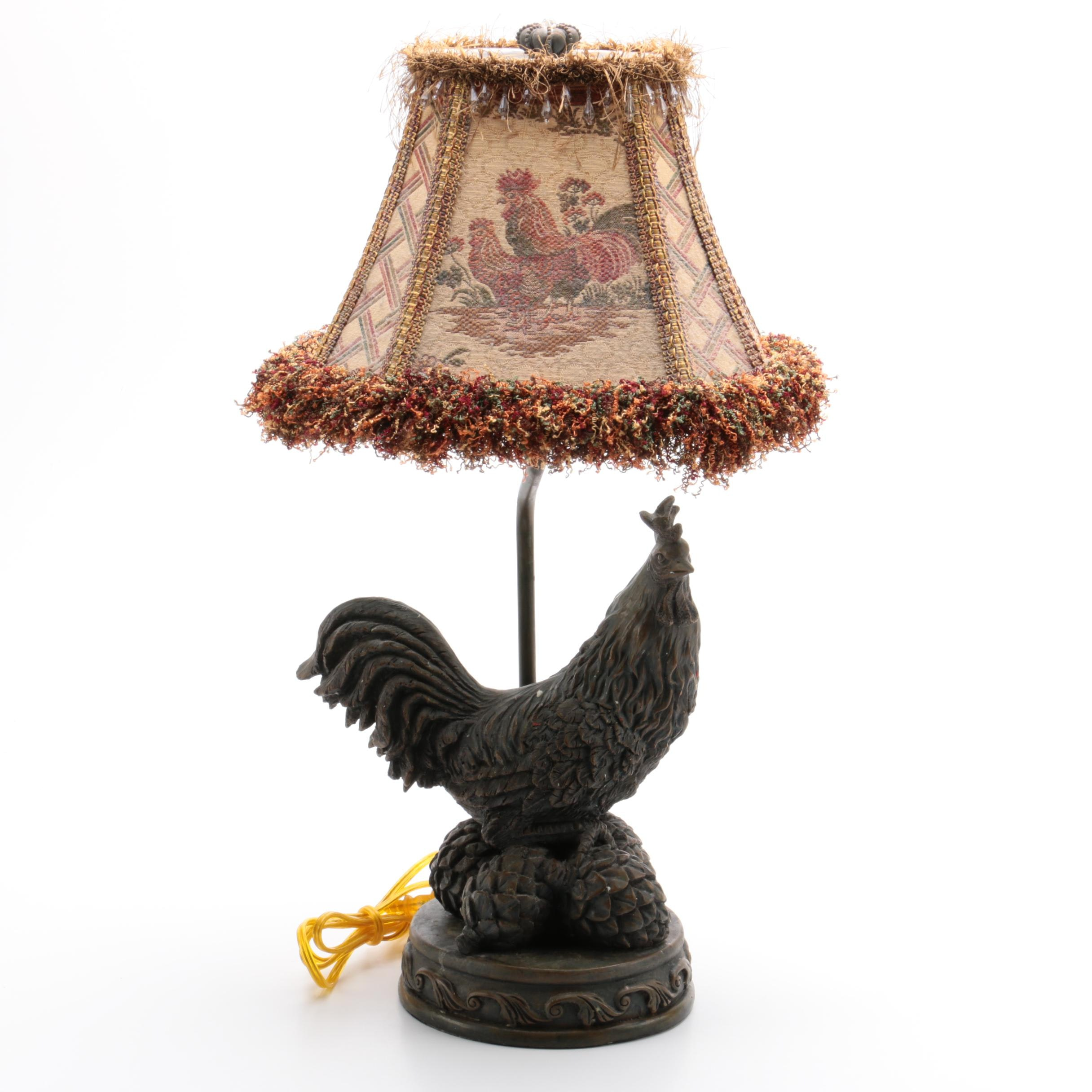 Rooster Motif Table Lamp
