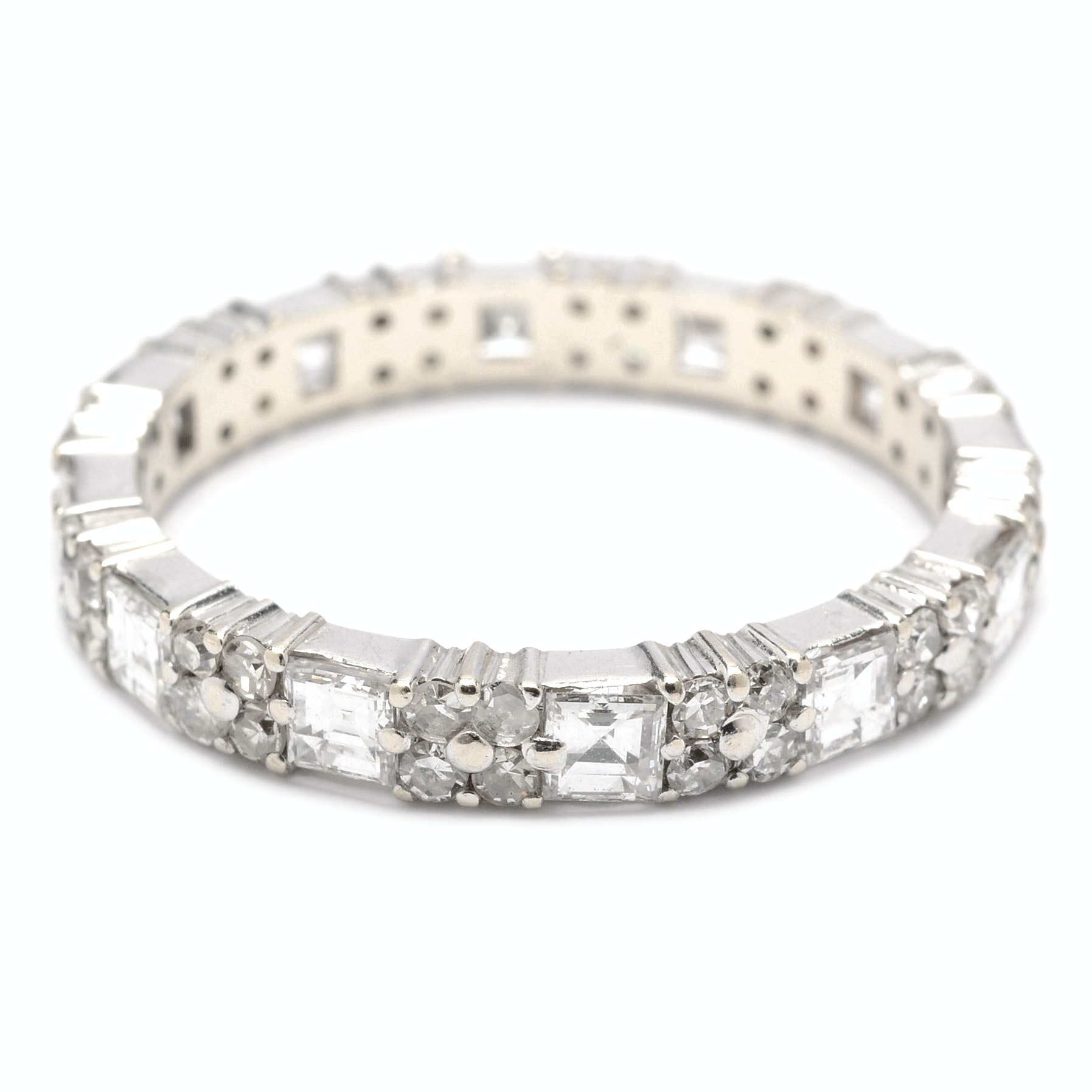 18K White Gold 1.80 CTW Diamond Ring