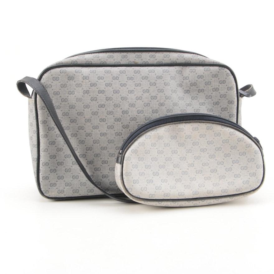 68dc5a374983 Vintage Gucci Supreme Canvas Shoulder Bag and Pouch : EBTH