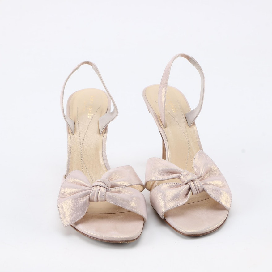 8e42c69ca821 Kate Spade Pink Metallic Slip-On Slingback Heels   EBTH