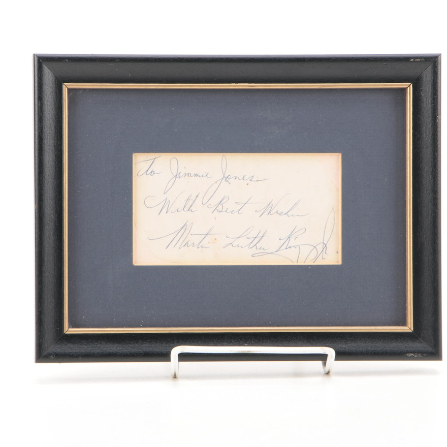 Martin Luther King Jr. Autograph Note Signed