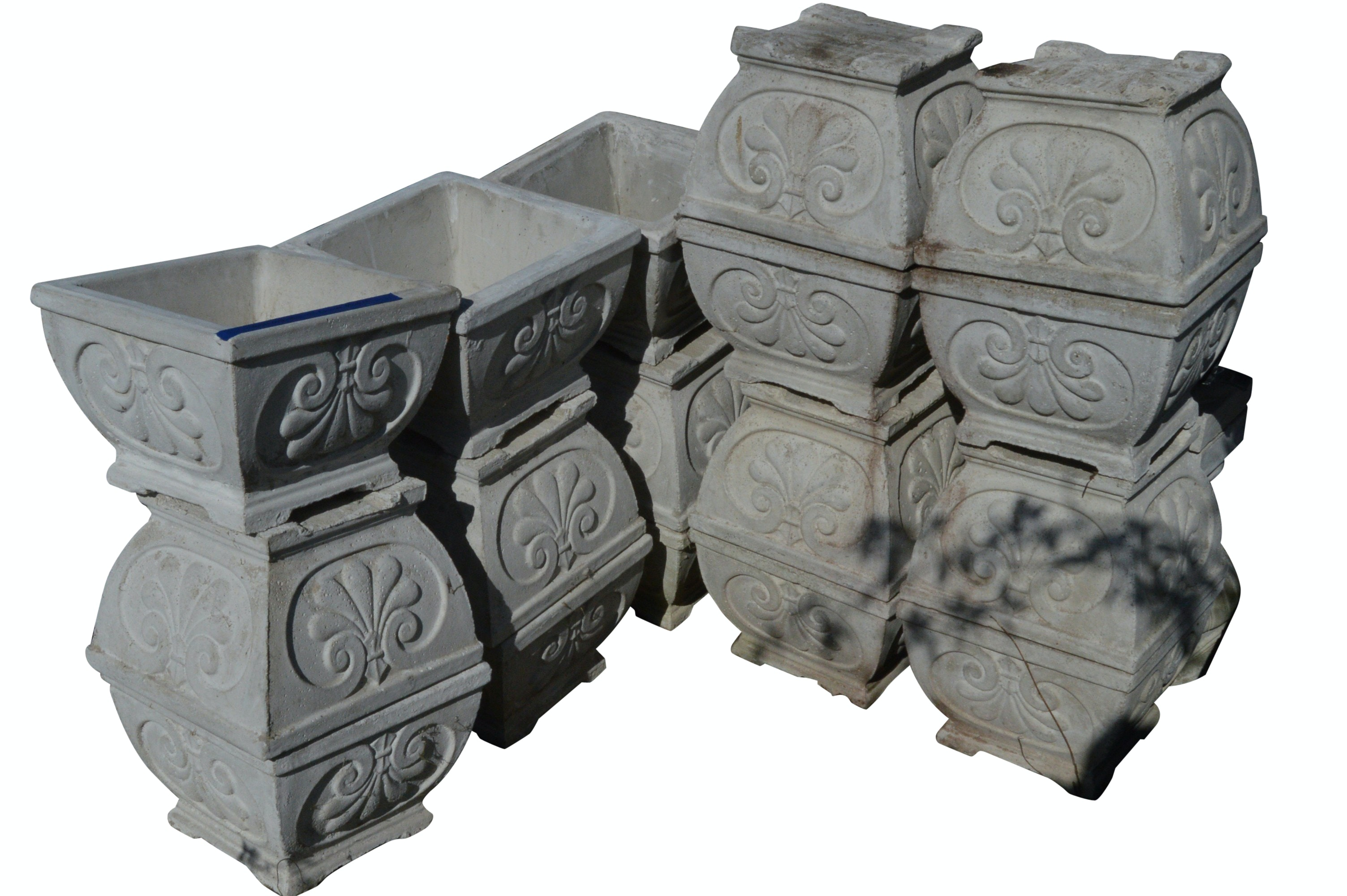 Footed Concrete Planters
