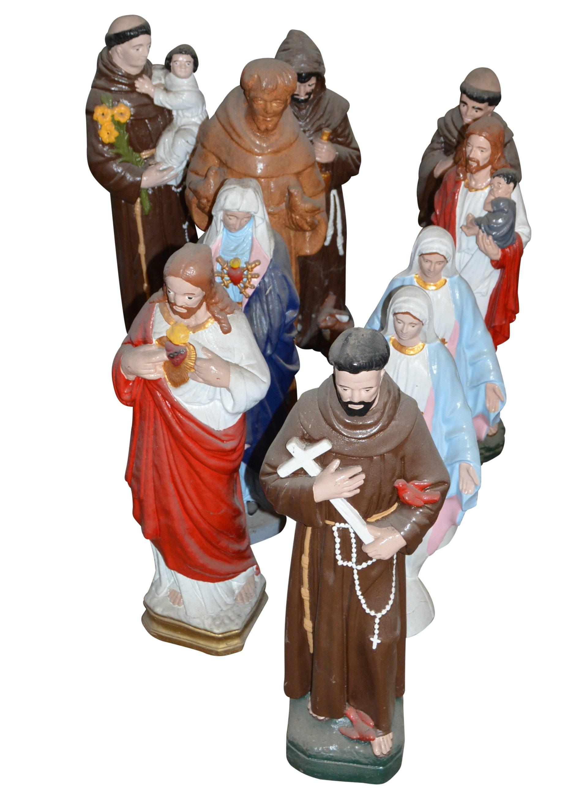Assorted Religious Garden Statues