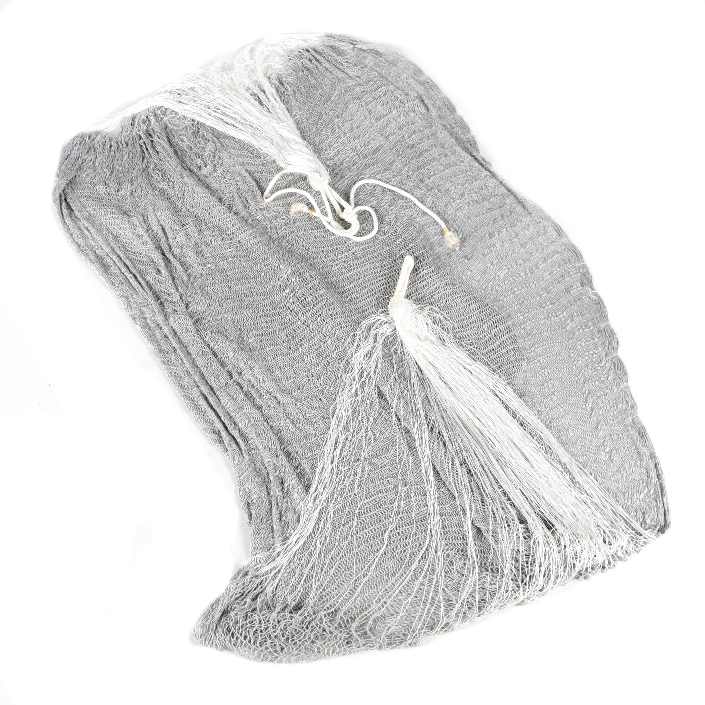 Gray Fabric Hammock with White Rope