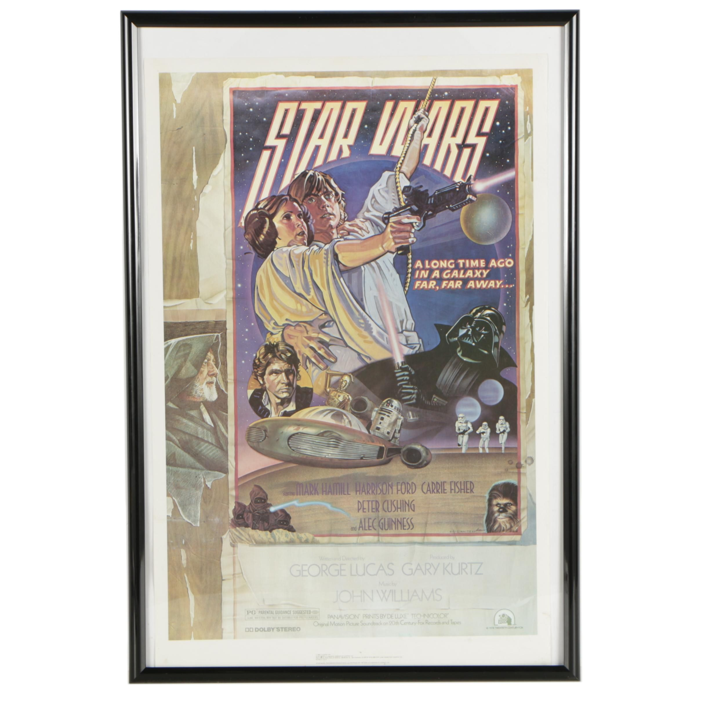 "Vintage Offset Lithograph Movie Poster ""Star Wars"""